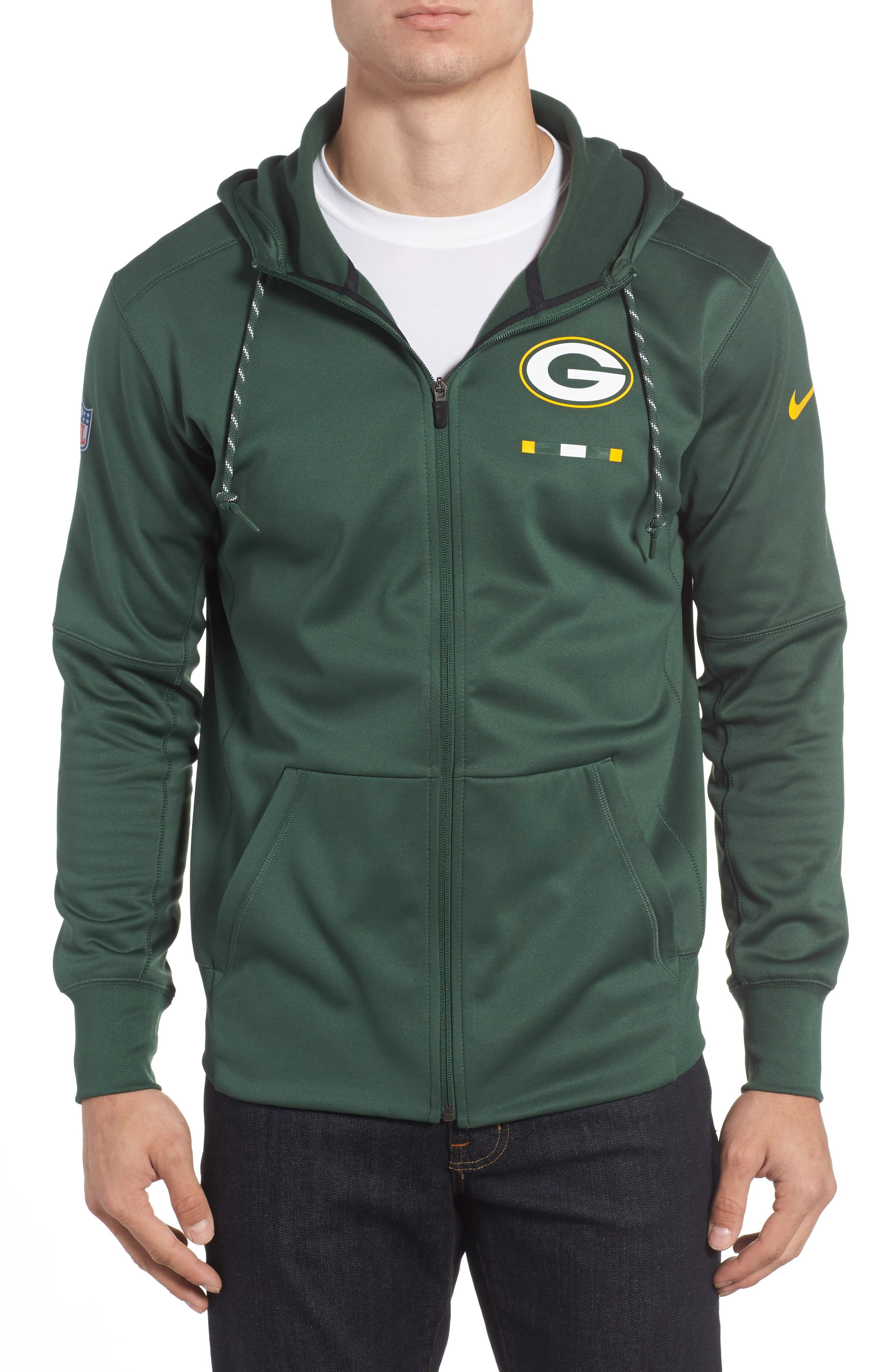 Therma-FIT NFL Graphic Zip Hoodie,                             Main thumbnail 3, color,