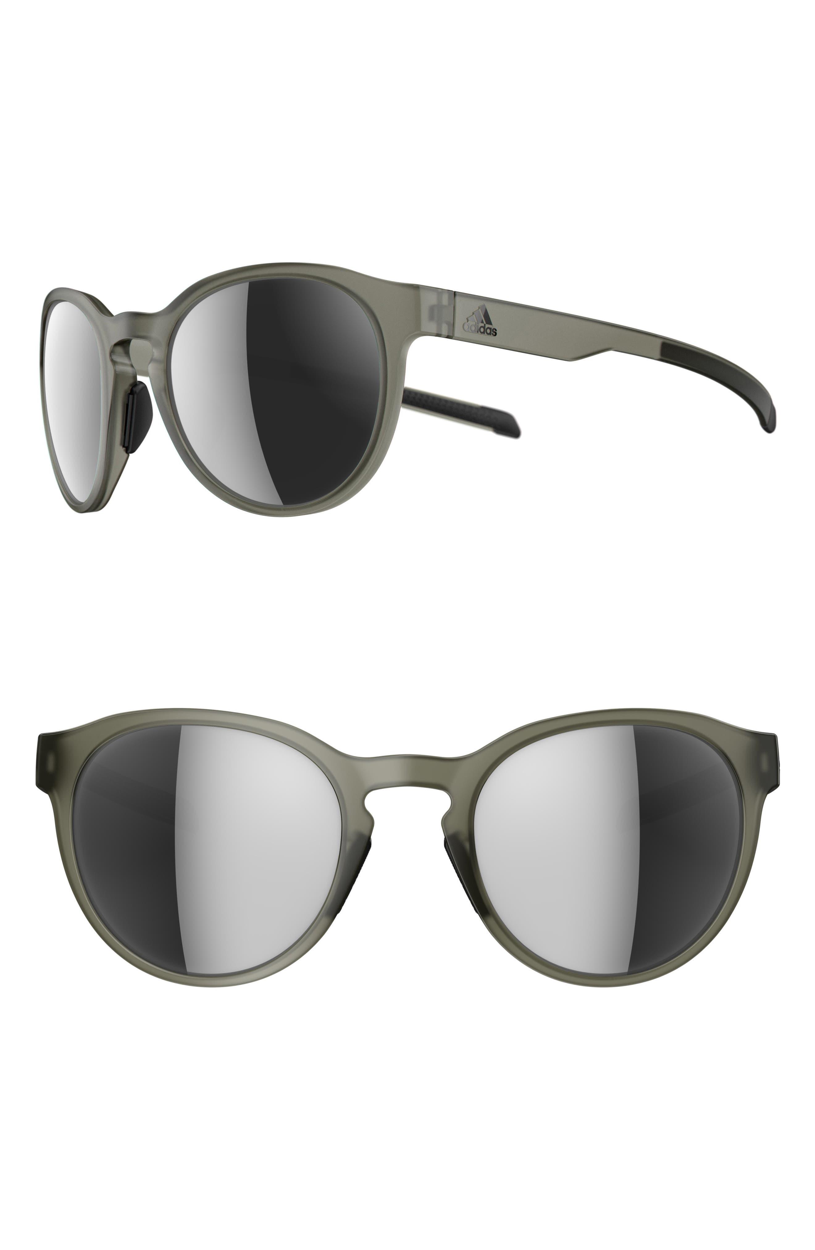 Proshift 52mm Mirrored Sport Sunglasses,                         Main,                         color, MATTE OLIVE/ CHROME