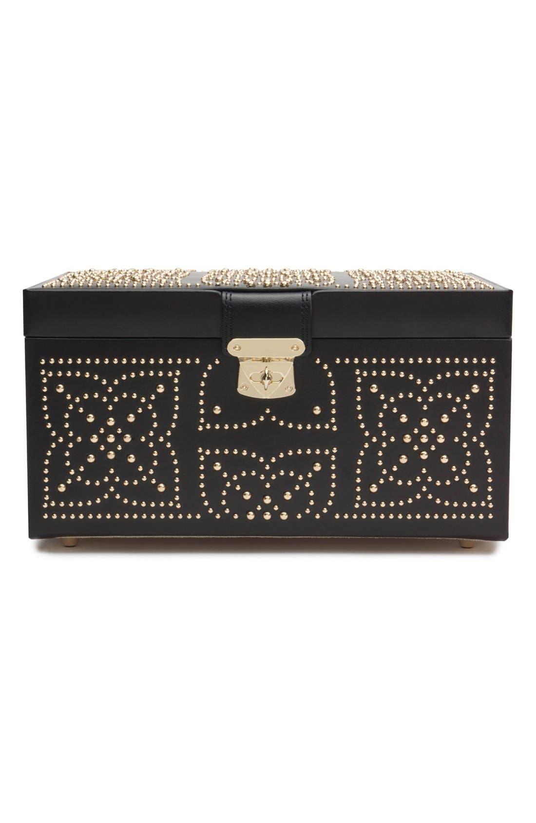 'Marrakesh' Jewelry Box,                             Alternate thumbnail 3, color,                             BLACK
