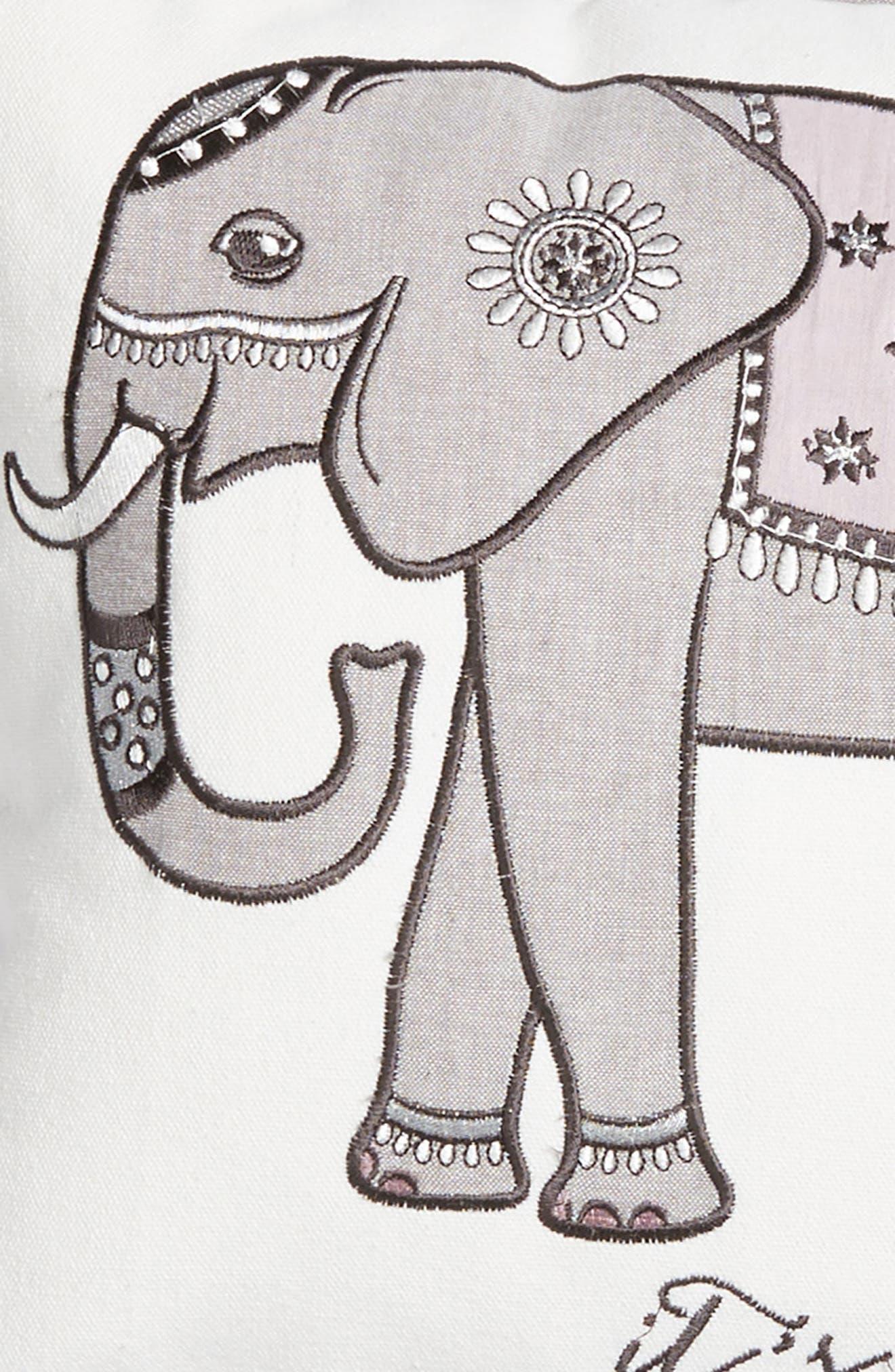 Parma Lavender Elephant Accent Pillow,                             Alternate thumbnail 3, color,                             900