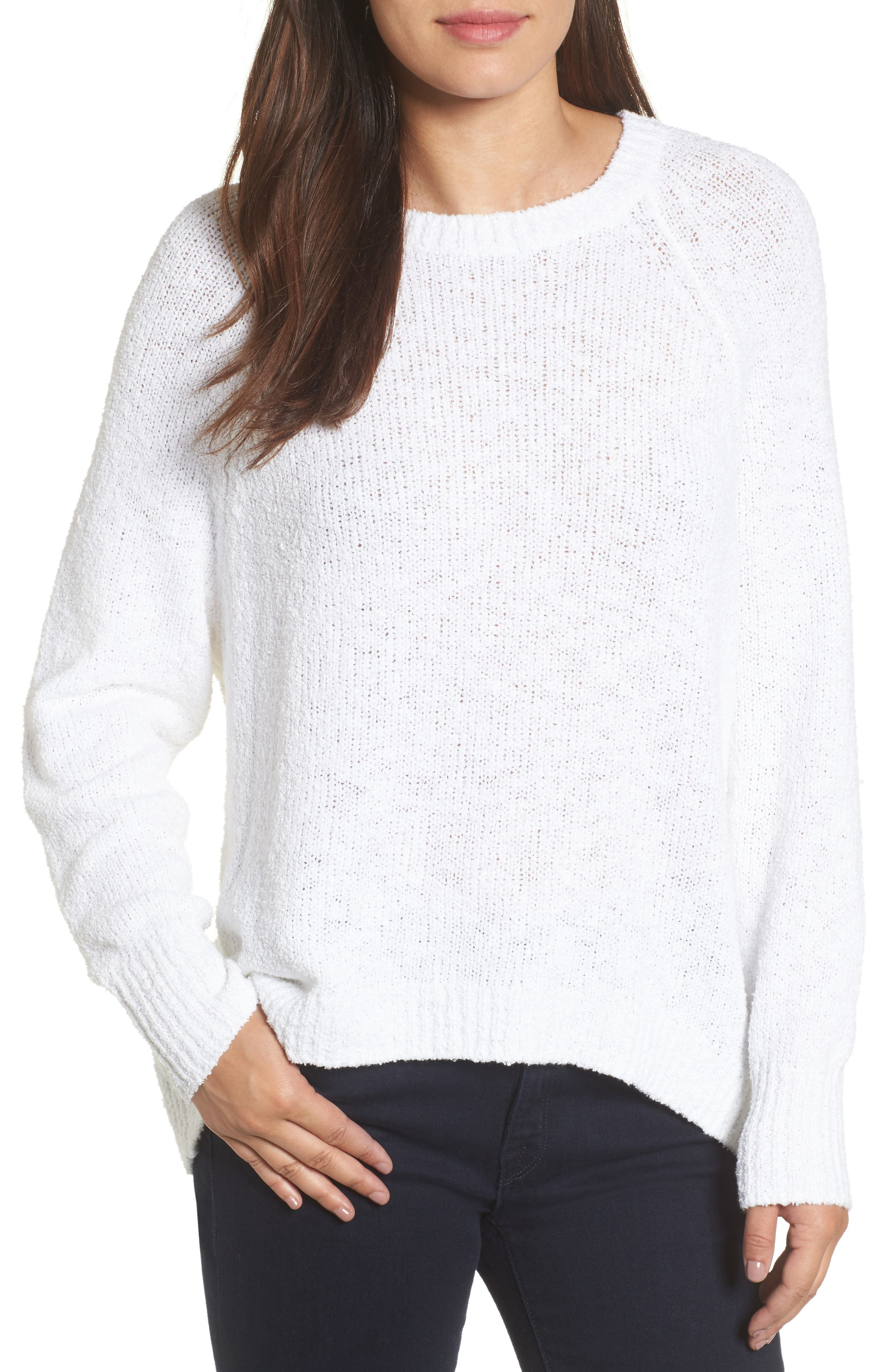 Relaxed Crewneck Sweater,                             Main thumbnail 1, color,                             100