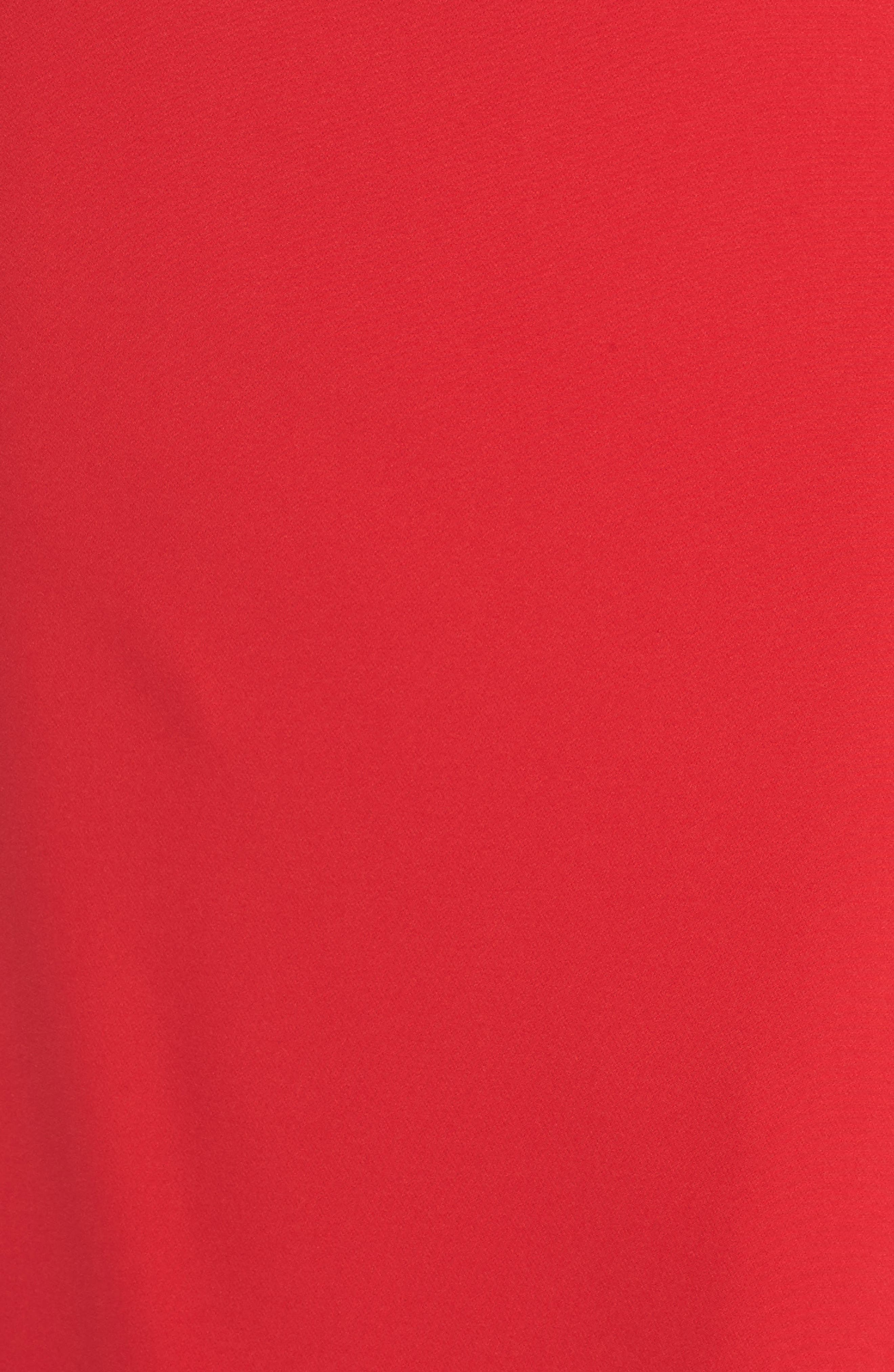 Laguna Faux Wrap Gown,                             Alternate thumbnail 6, color,                             RED