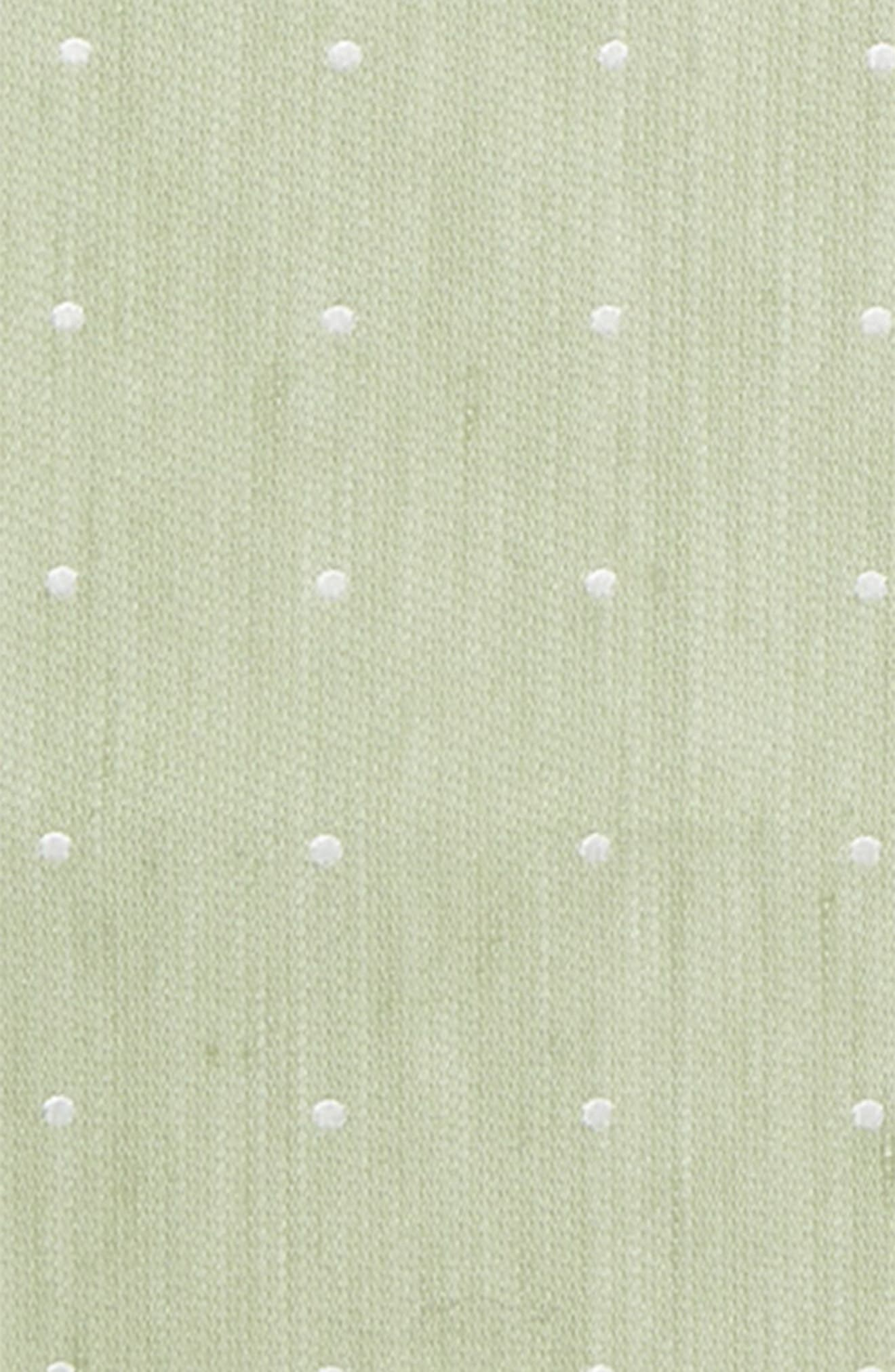 Bulletin Dot Silk & Linen Pocket Square,                             Alternate thumbnail 3, color,                             357