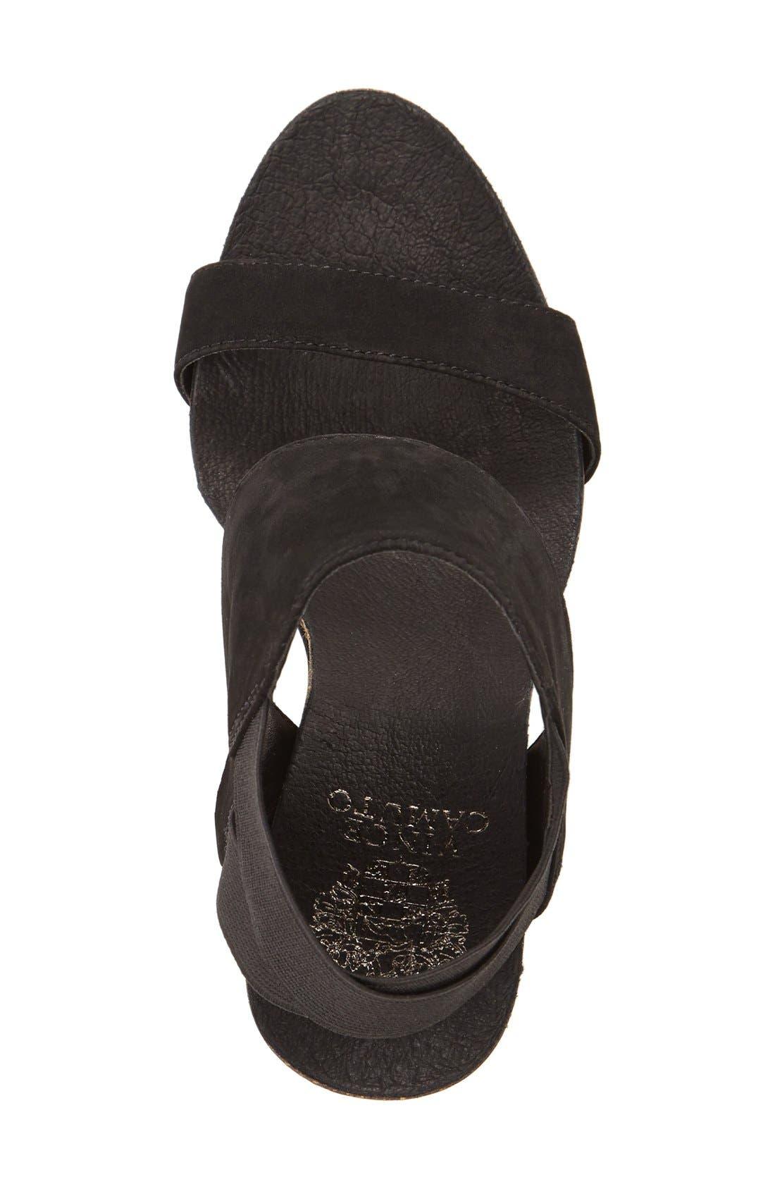 Kresta Platform Wedge Sandal,                             Alternate thumbnail 3, color,                             001