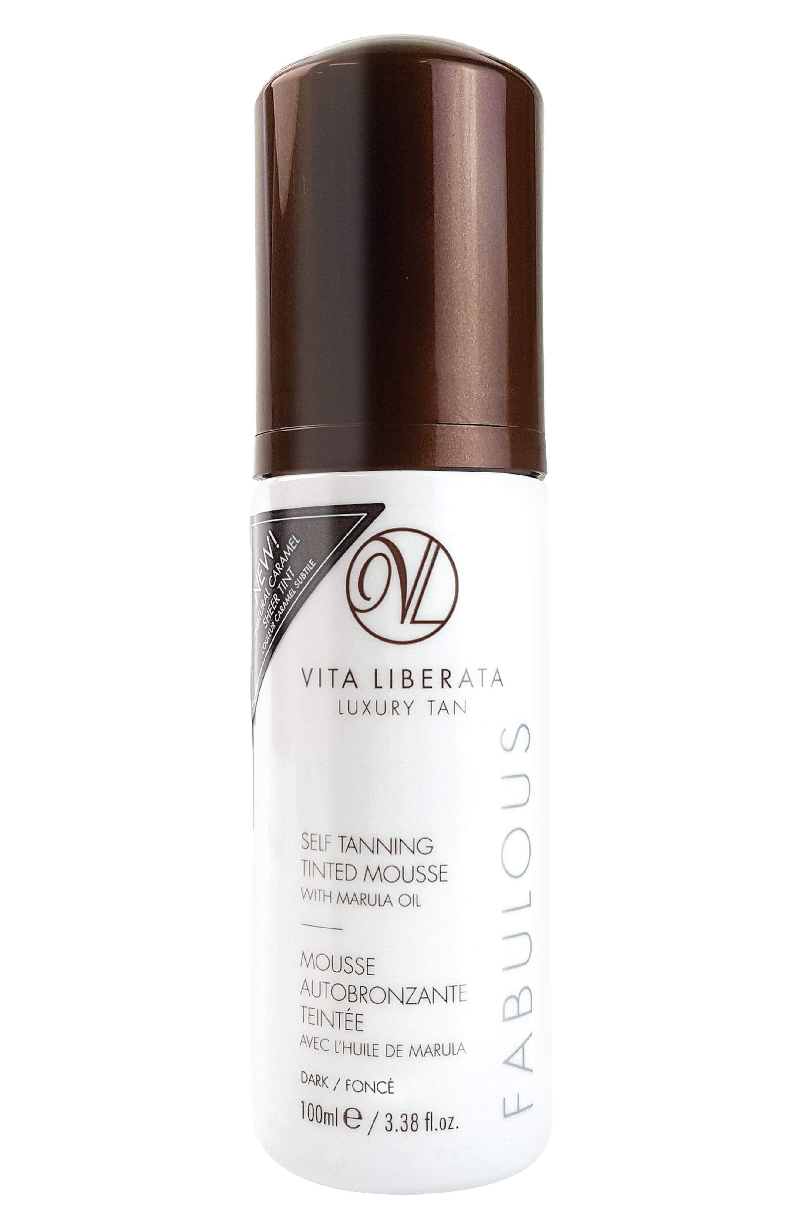 Fabulous Self Tanning Tinted Mousse,                             Alternate thumbnail 2, color,                             DARK