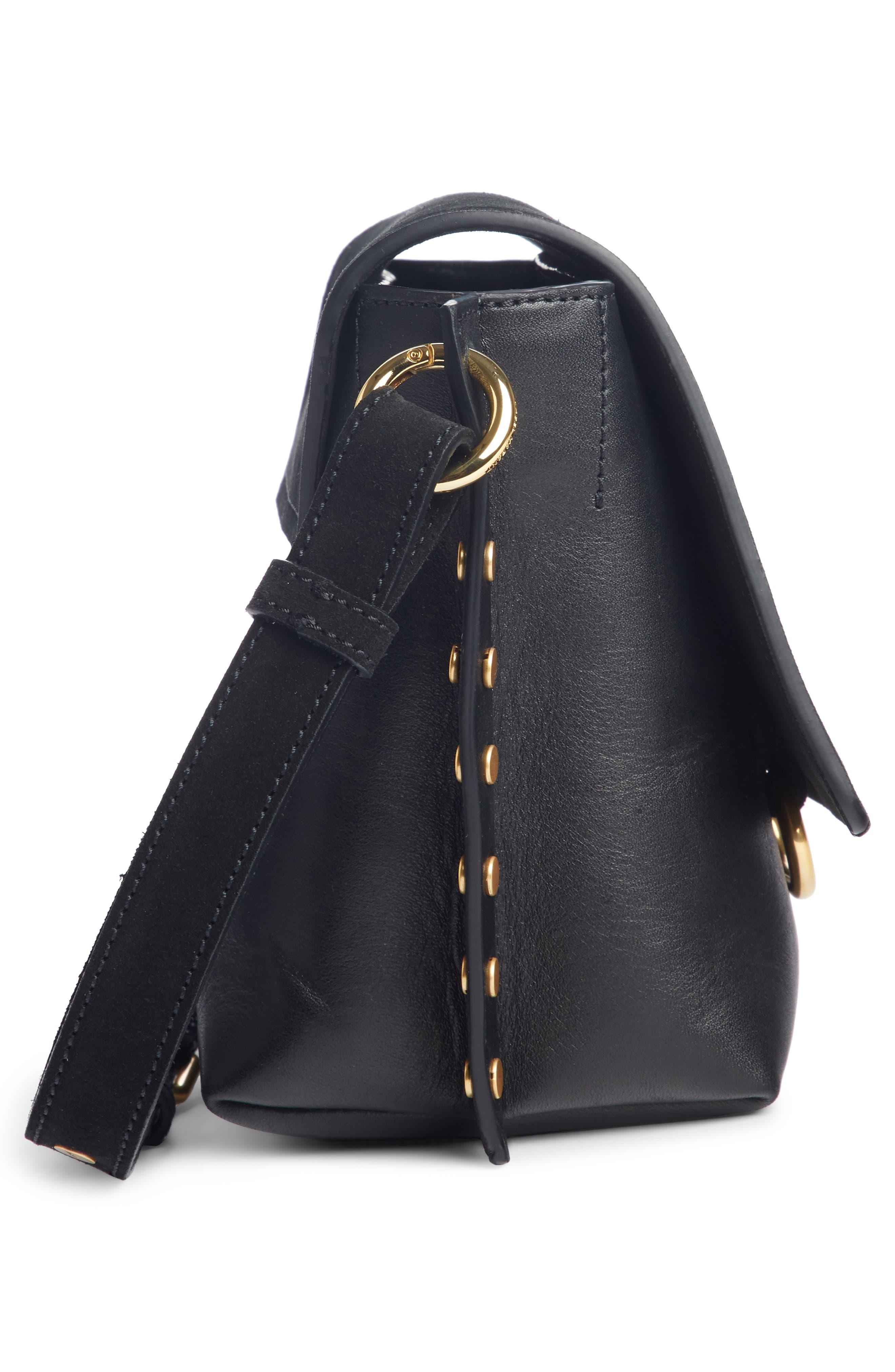 Kleny Leather Shoulder Bag,                             Alternate thumbnail 3, color,                             001