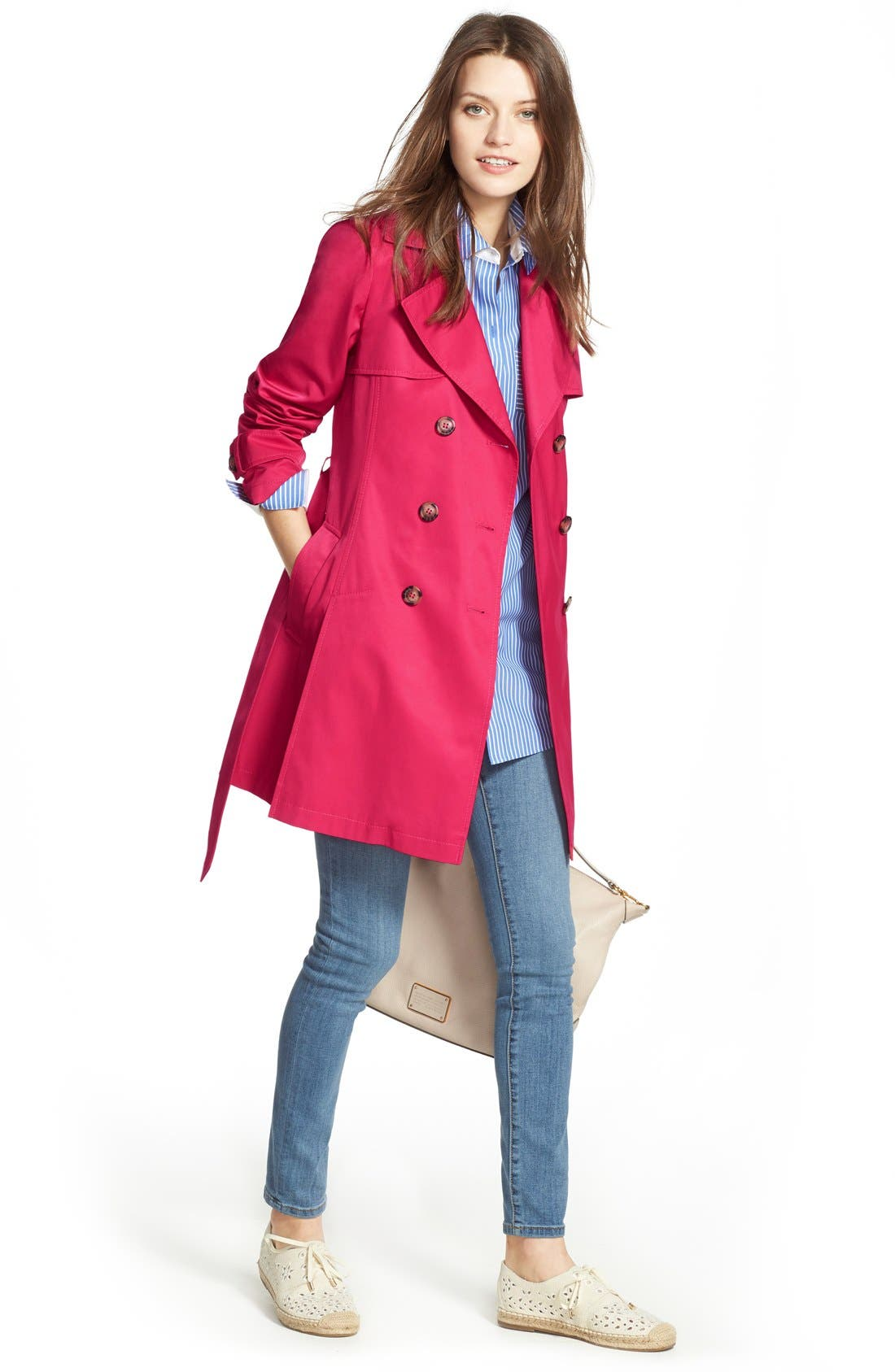 Detachable Hood Trench Coat,                             Alternate thumbnail 16, color,