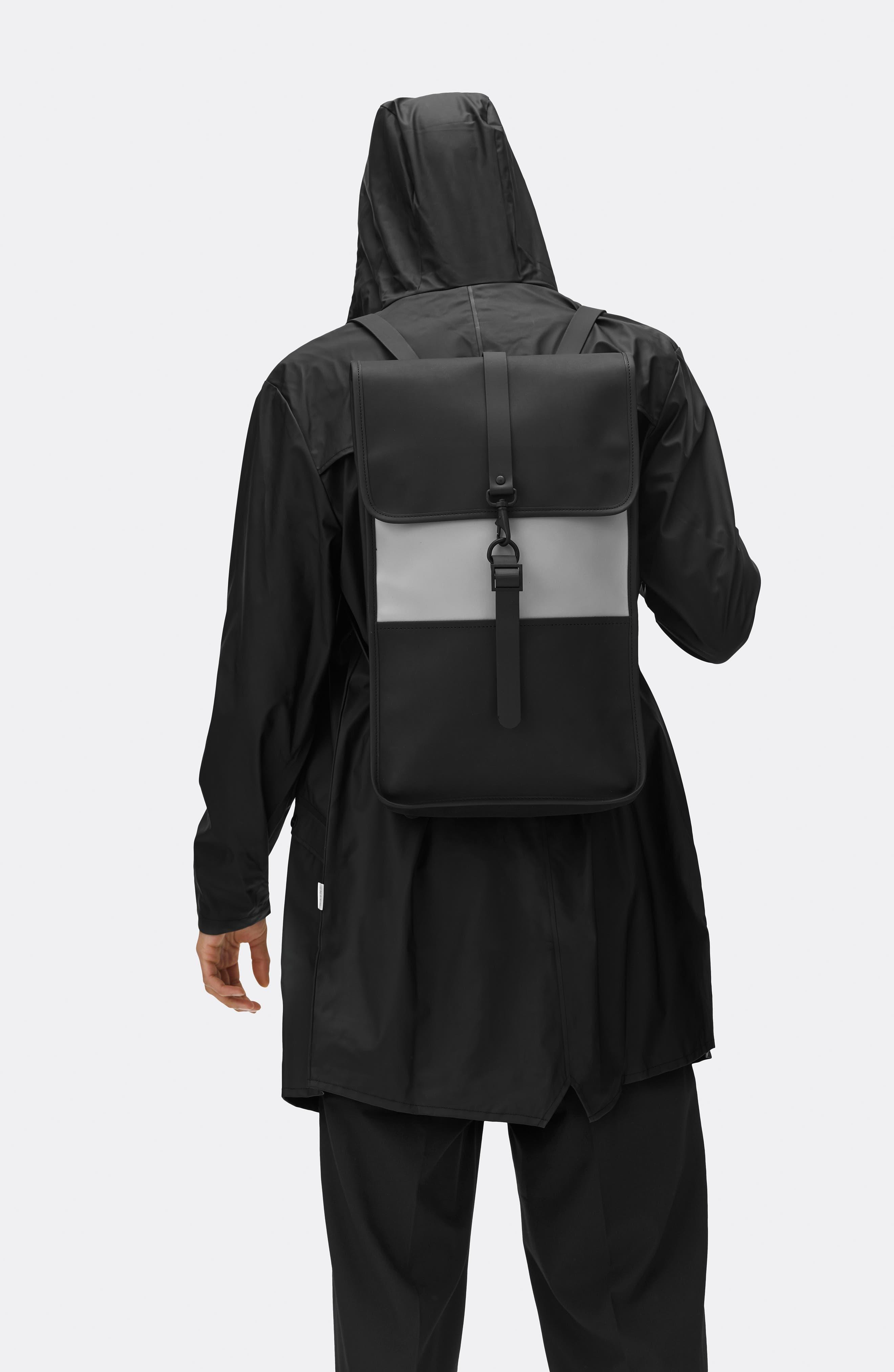 Waterproof Backpack,                             Alternate thumbnail 4, color,                             BLACK/ STONE