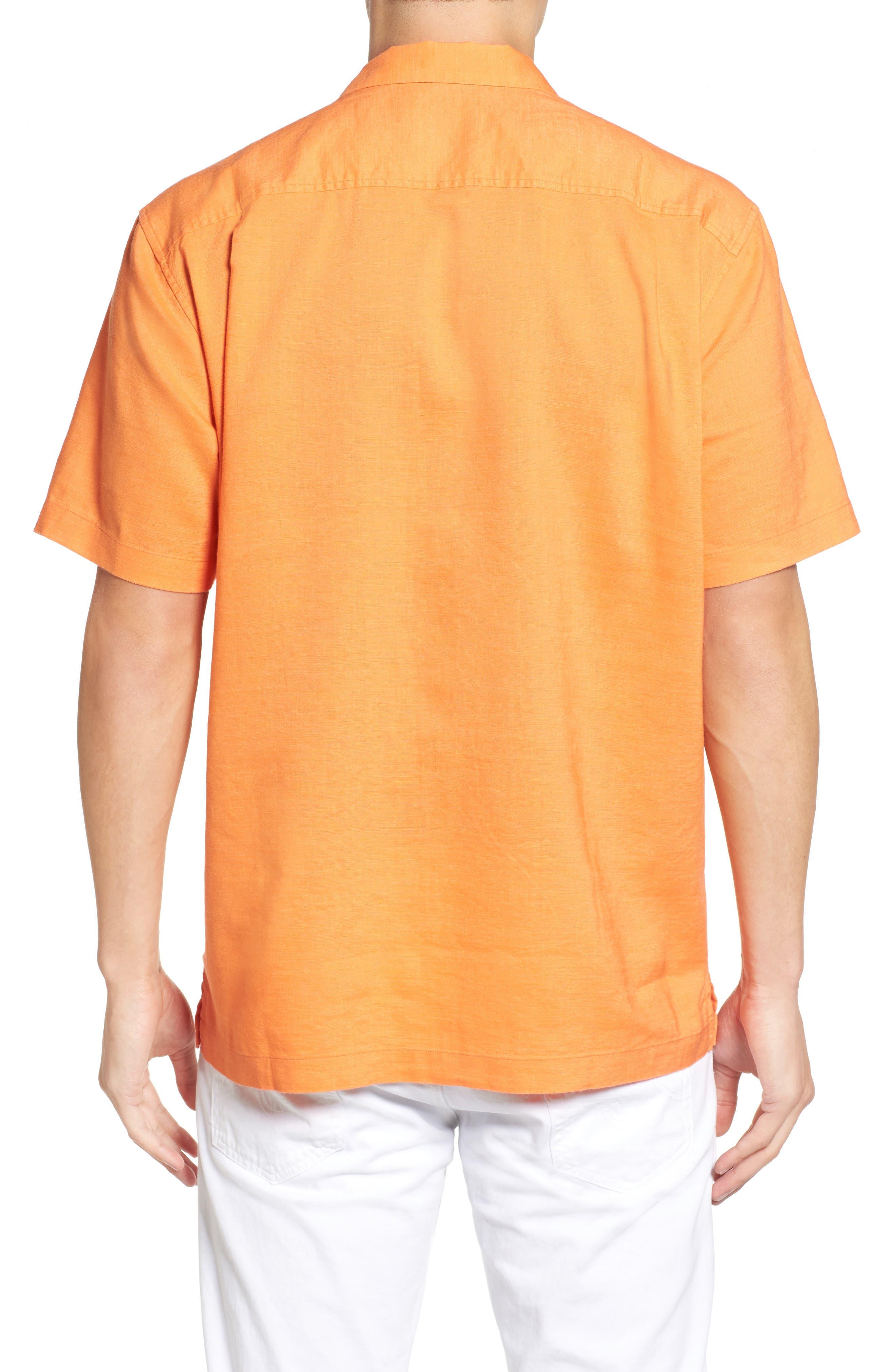 Monaco Tides Standard Fit Linen Blend Camp Shirt,                             Alternate thumbnail 12, color,