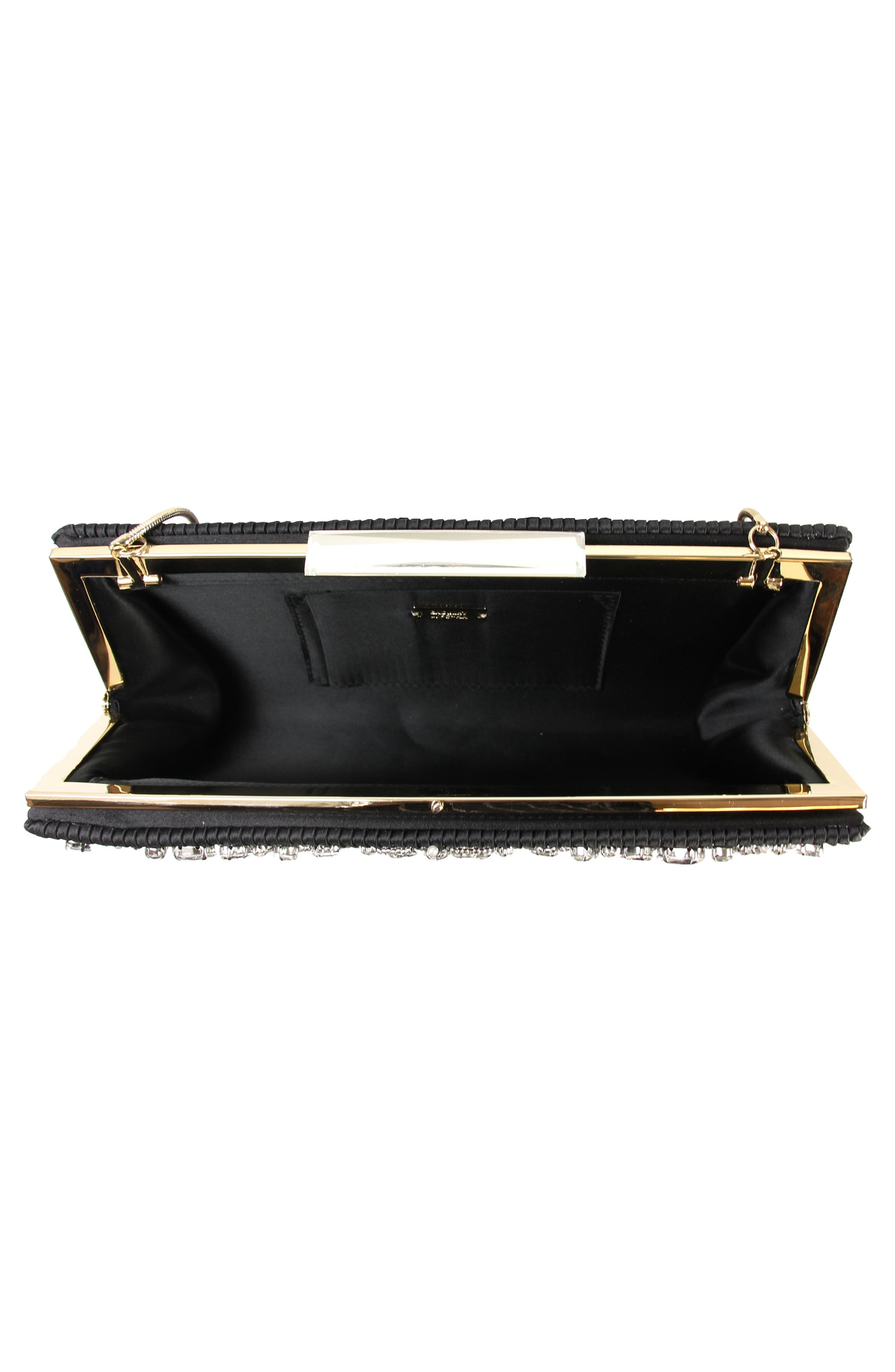 Gale Embellished Clutch,                             Alternate thumbnail 3, color,                             001