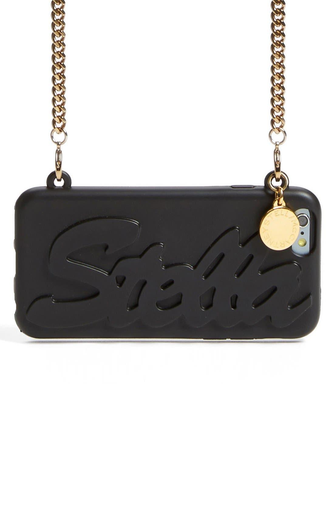 'Stella' iPhone 6 & 6s Crossbody Chain Case, Main, color, 001