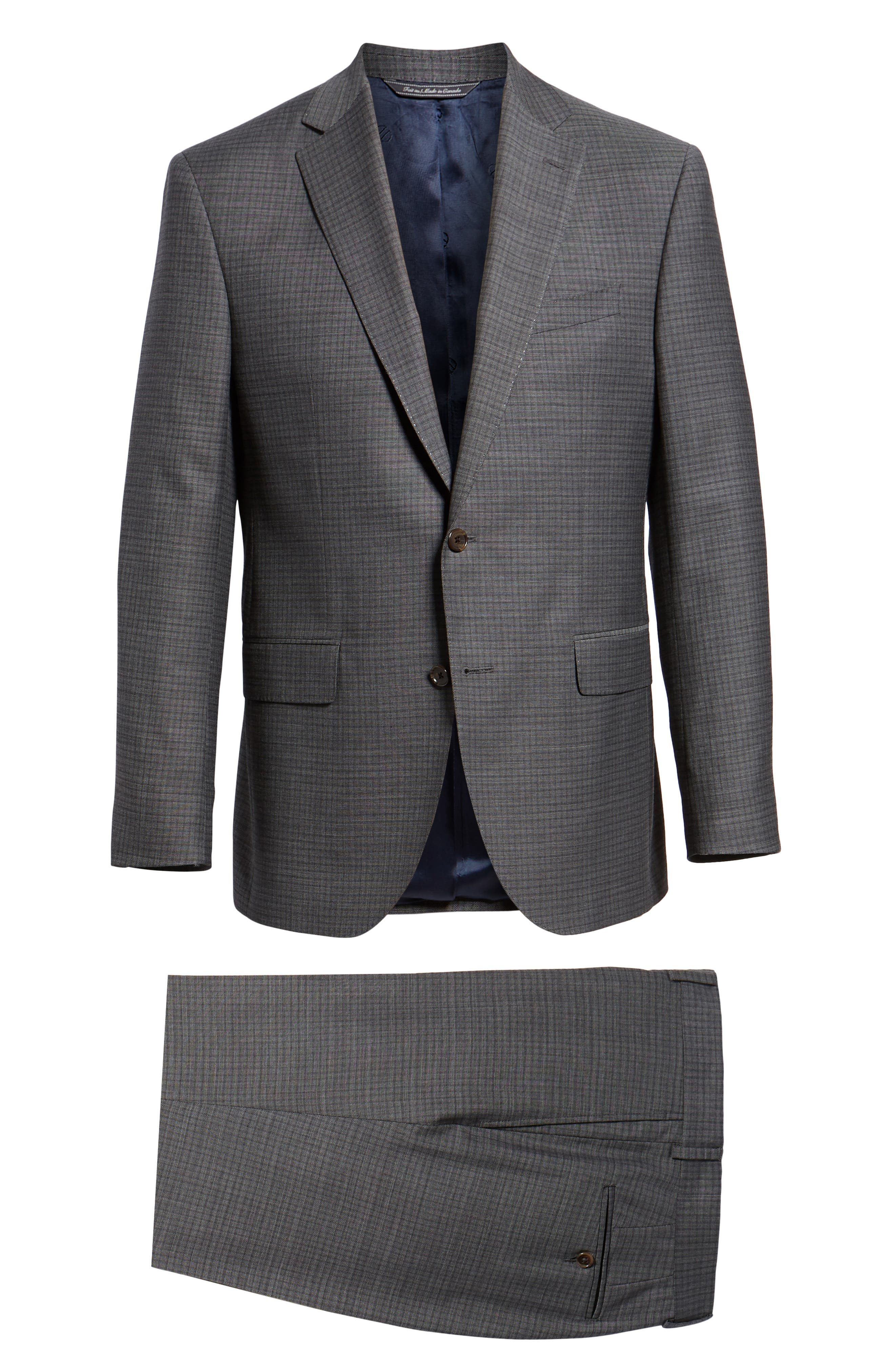 Ryan Classic Fit Stretch Check Wool Suit,                             Alternate thumbnail 8, color,                             CHARCOAL