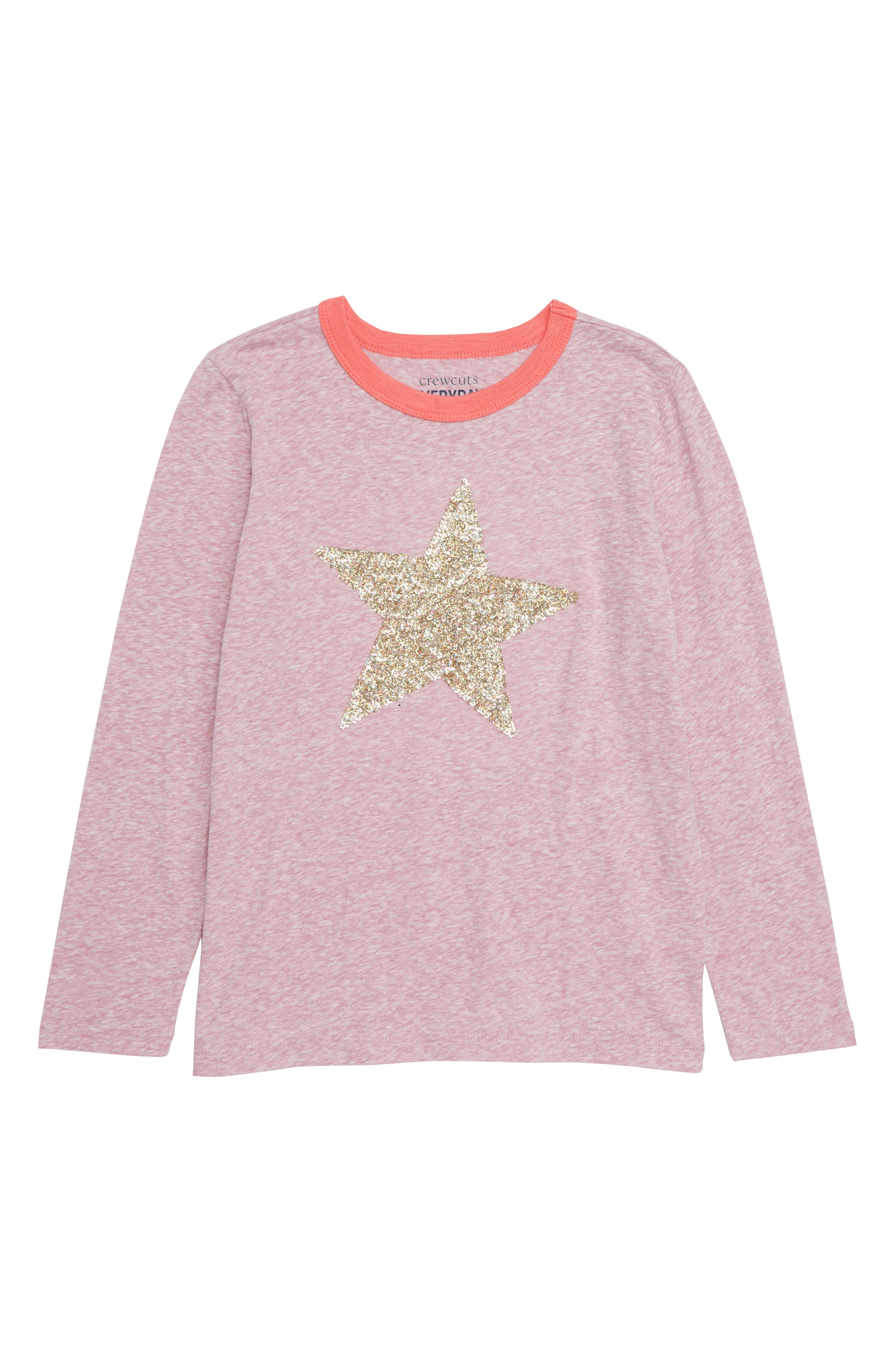 Sequin Star Ringer Tee,                             Main thumbnail 1, color,                             650