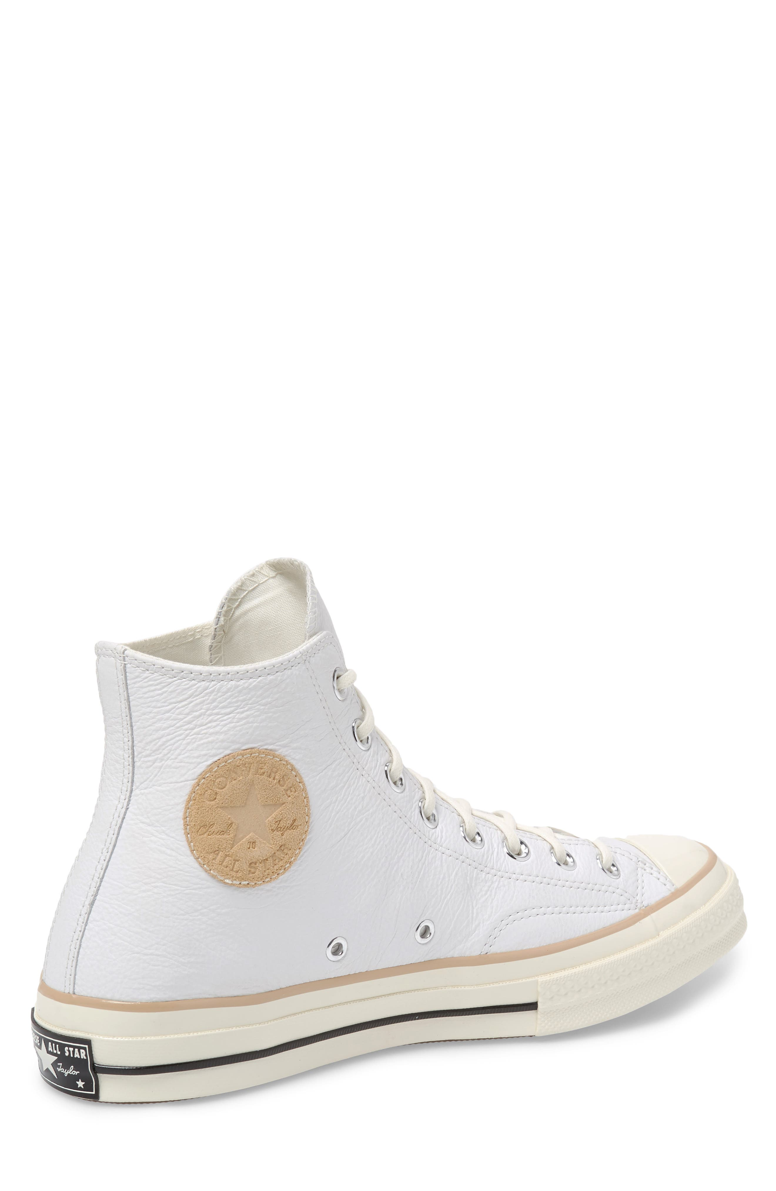 Chuck 70 Boot Leather High Top Sneaker,                             Alternate thumbnail 2, color,                             WHITE/ LIGHT FAWN/ EGRET