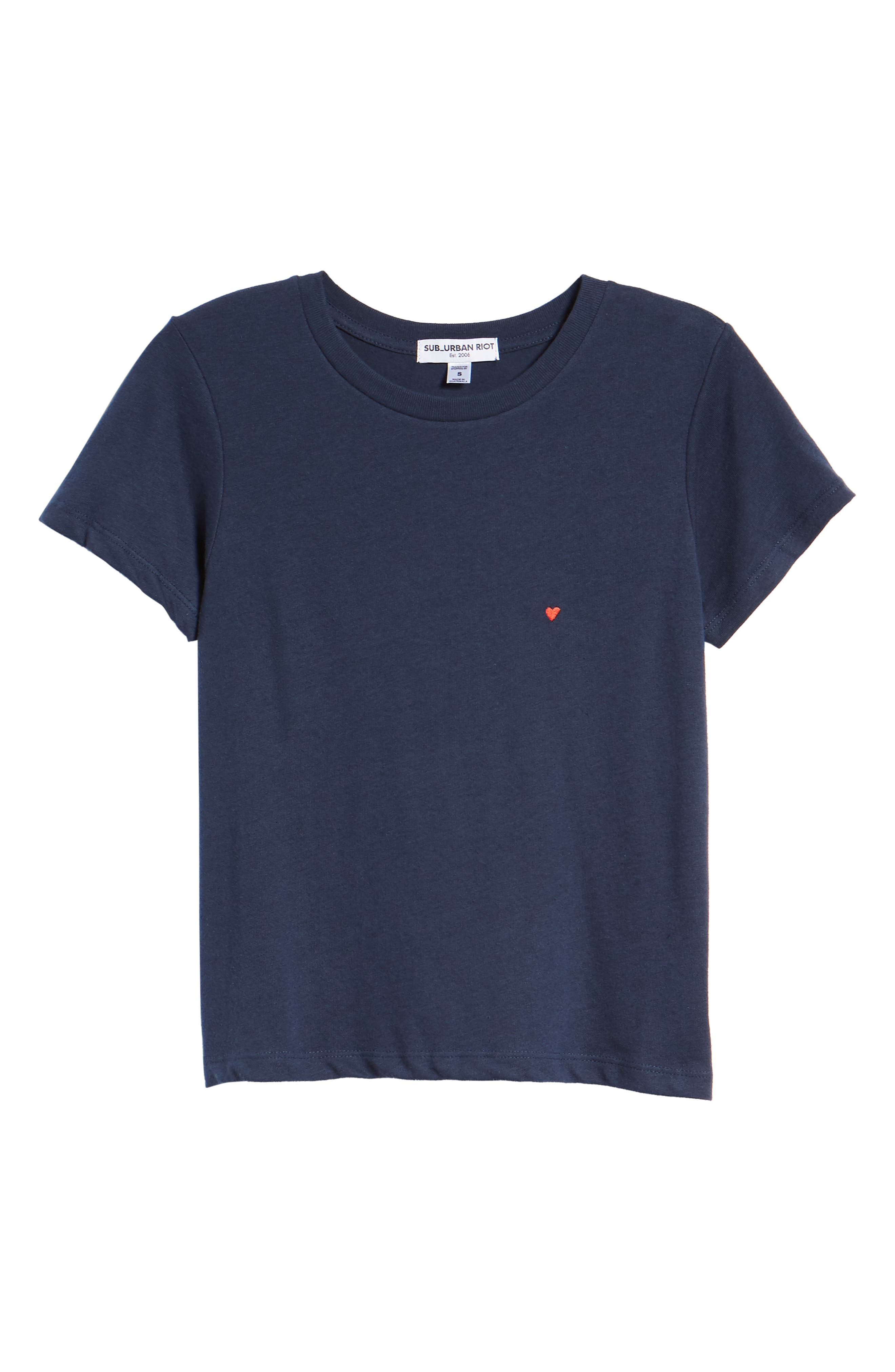 Embroidered Heart Tee,                             Alternate thumbnail 12, color,