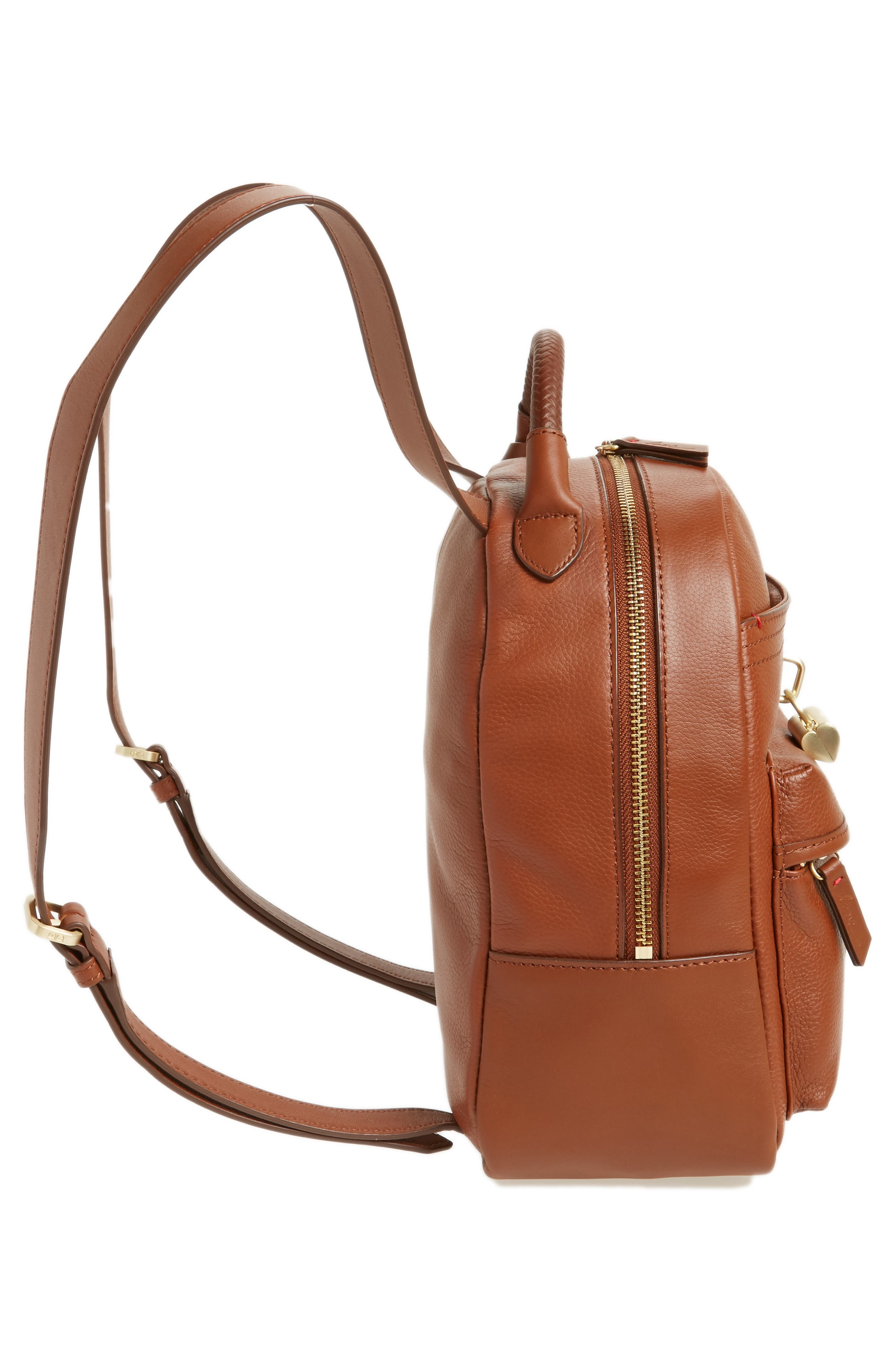 Brody Leather Backpack,                             Alternate thumbnail 5, color,                             242
