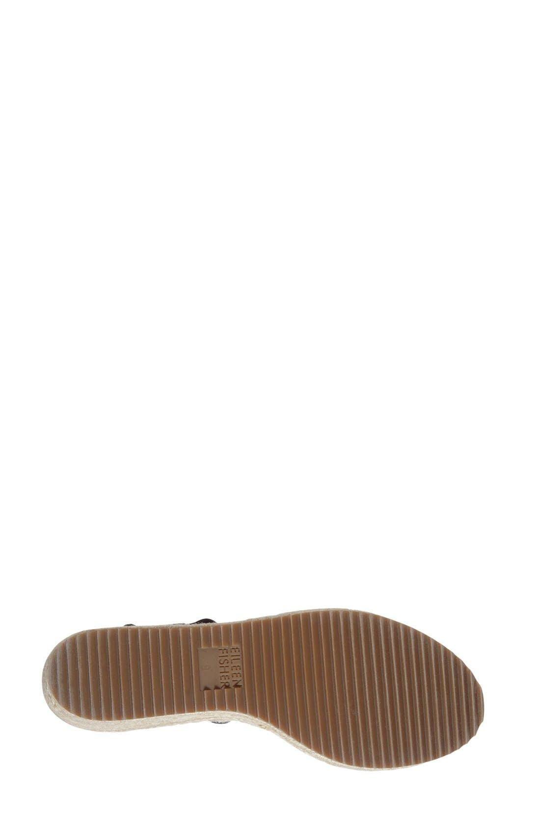 'Willow' Espadrille Wedge Sandal,                             Alternate thumbnail 4, color,                             001