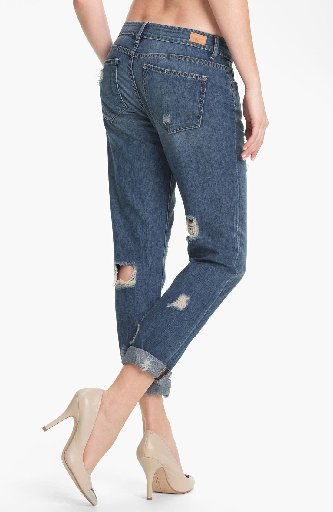 Denim 'Jimmy Jimmy' Distressed Skinny Jeans,                             Alternate thumbnail 2, color,