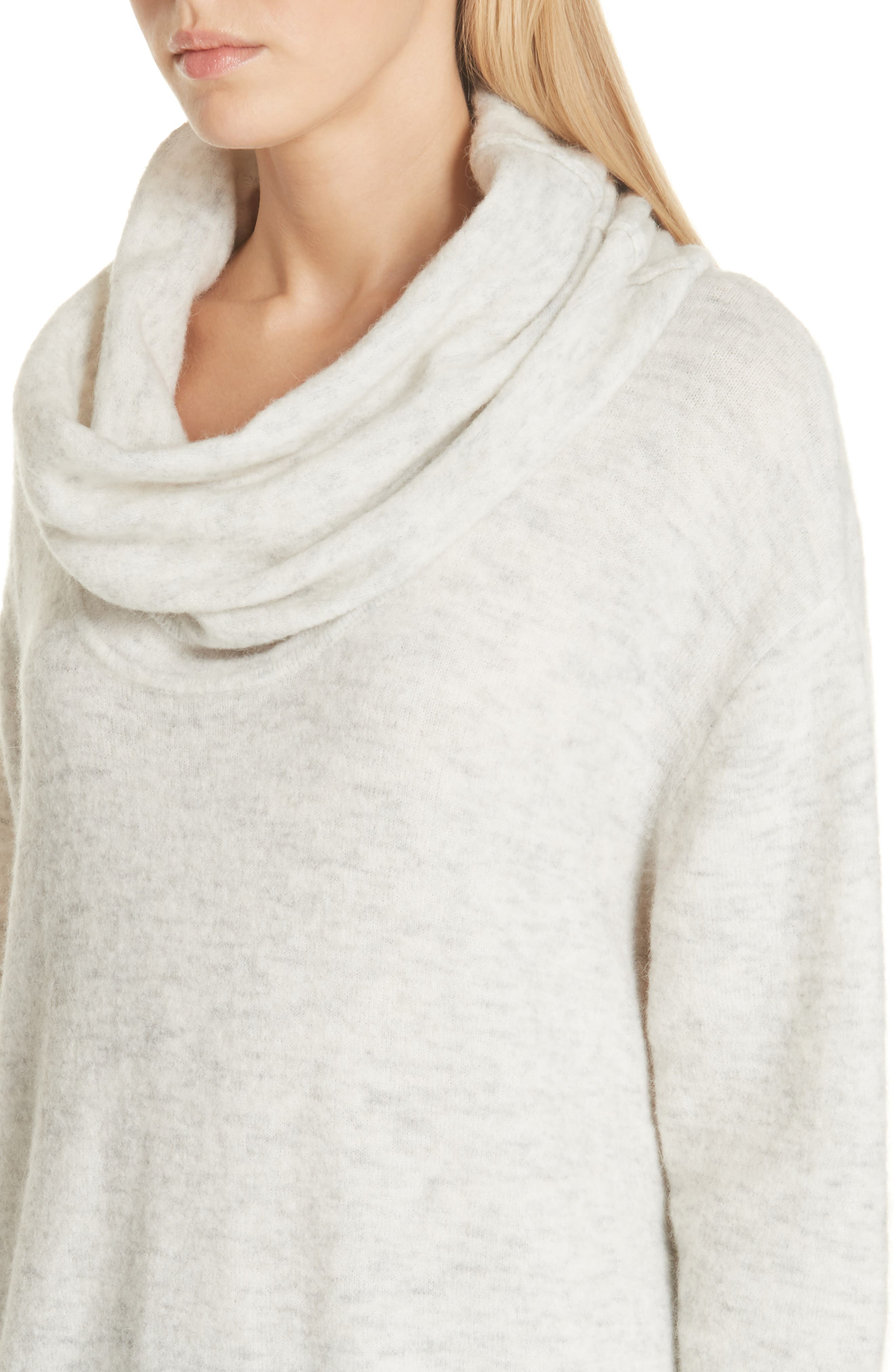 Mineral Cowl Neck Sweater,                             Alternate thumbnail 4, color,                             GREY