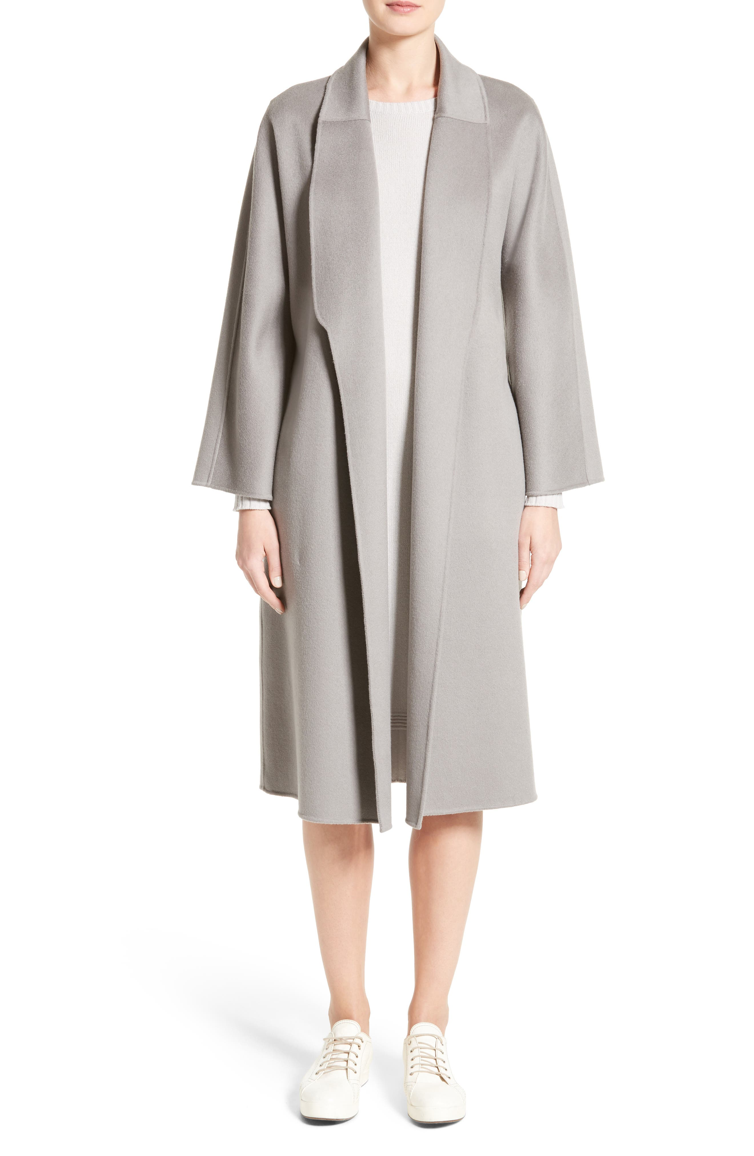 Double Face Cashmere Wrap Coat,                             Alternate thumbnail 7, color,