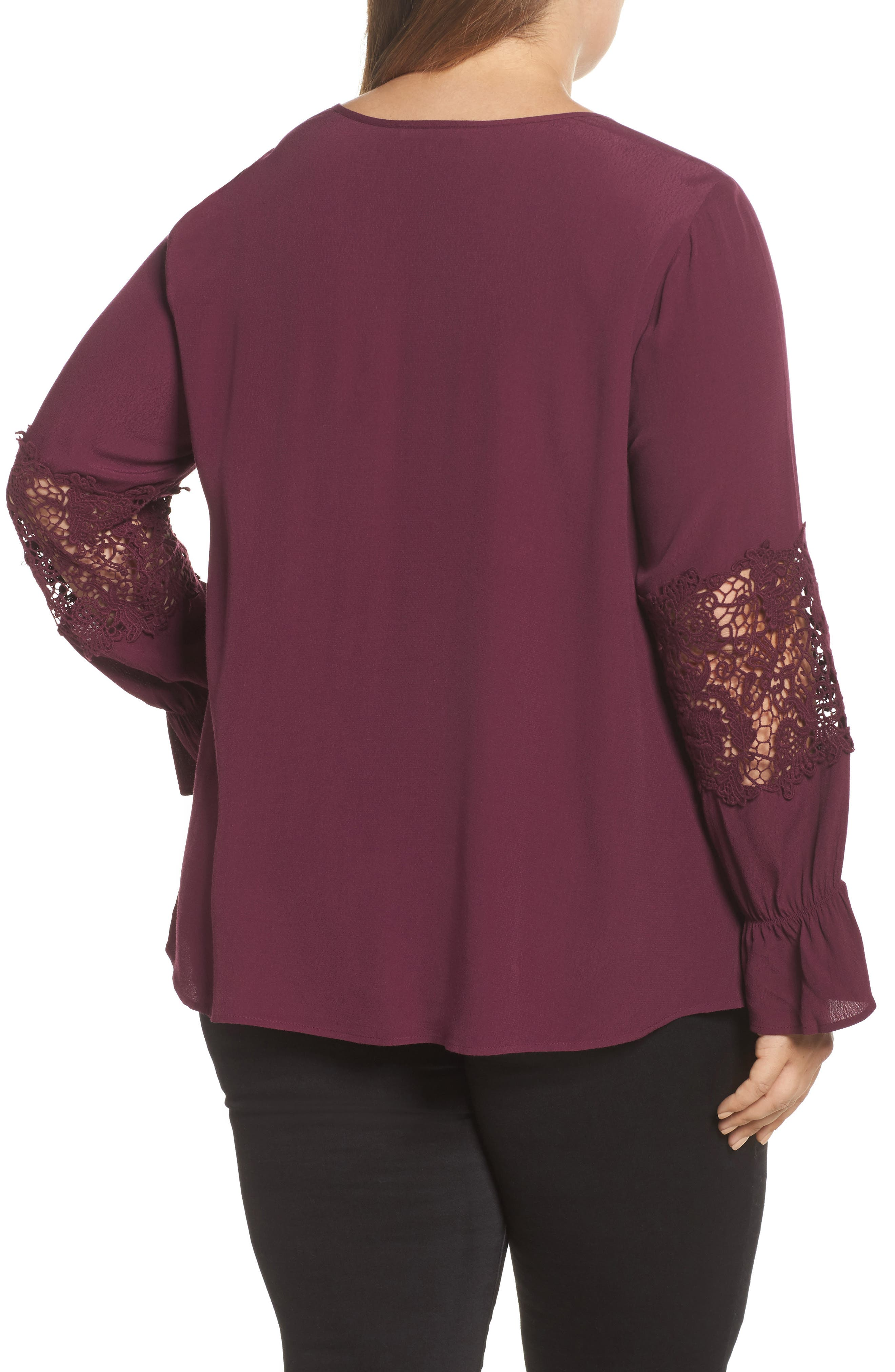 Bell Sleeve Lace Top,                             Alternate thumbnail 4, color,