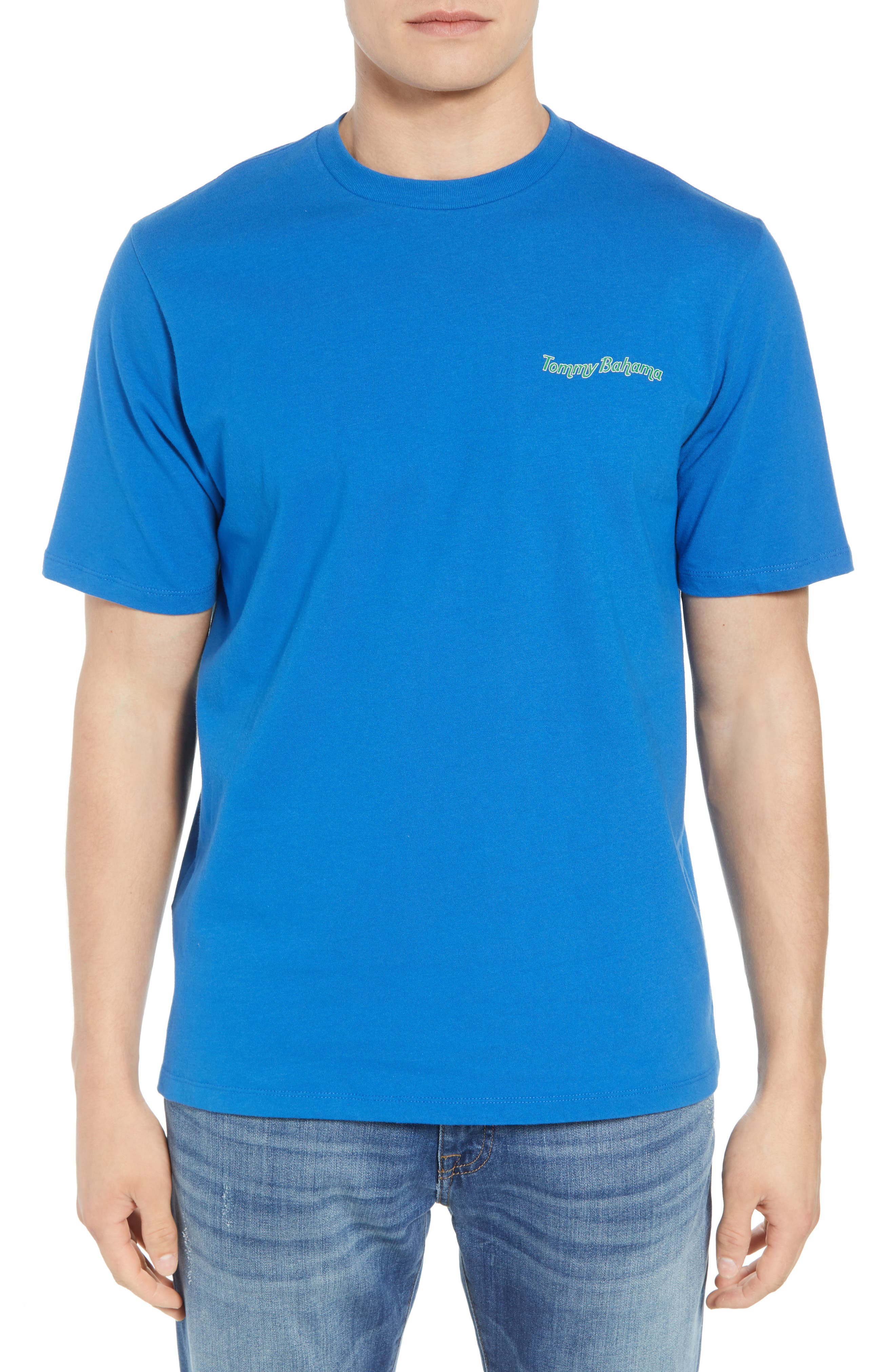 Large Bills Graphic T-Shirt,                             Main thumbnail 1, color,                             COBALT SEA