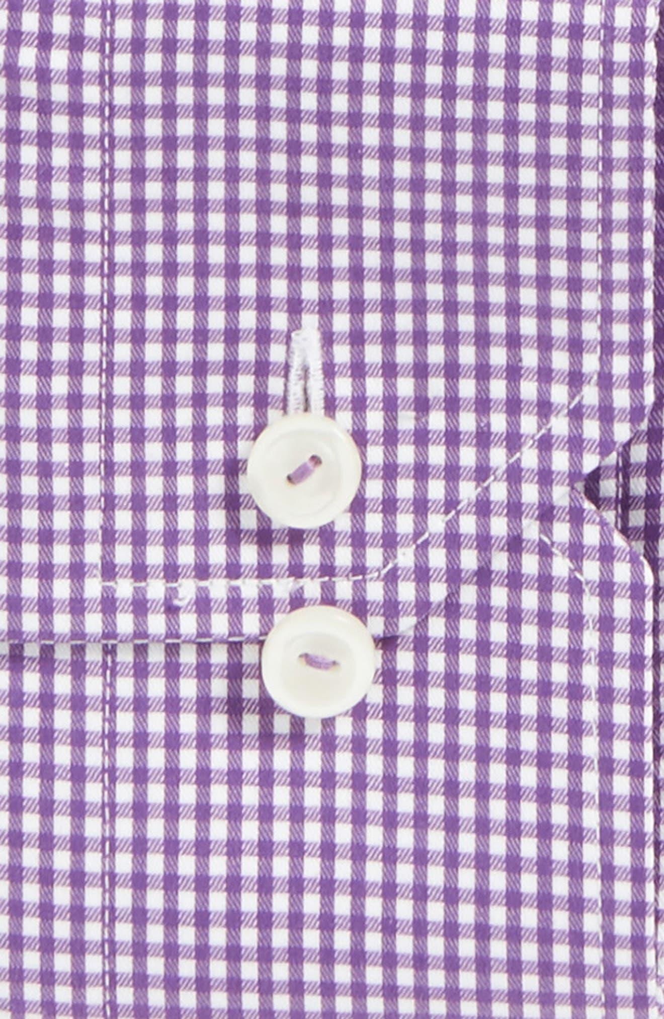 Slim Fit Check Dress Shirt,                             Alternate thumbnail 3, color,                             500