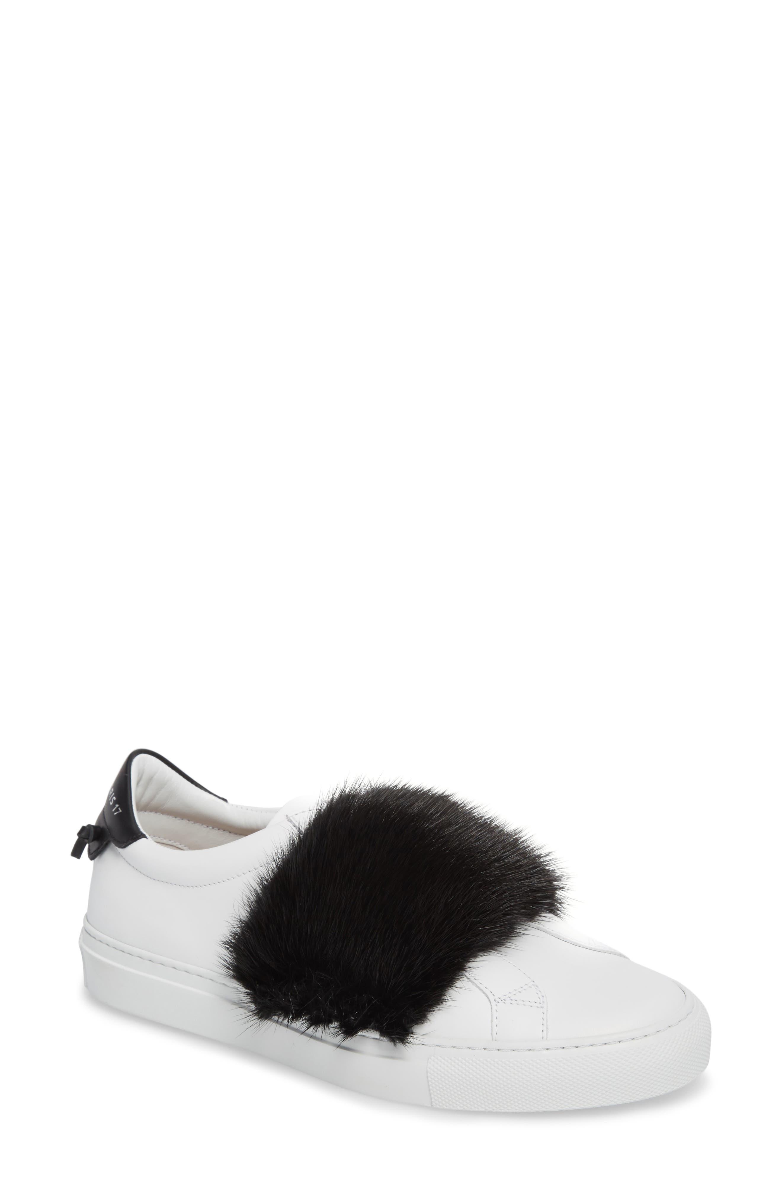 Urban Street Slip-On Sneaker with Genuine Mink Fur Trim,                         Main,                         color,
