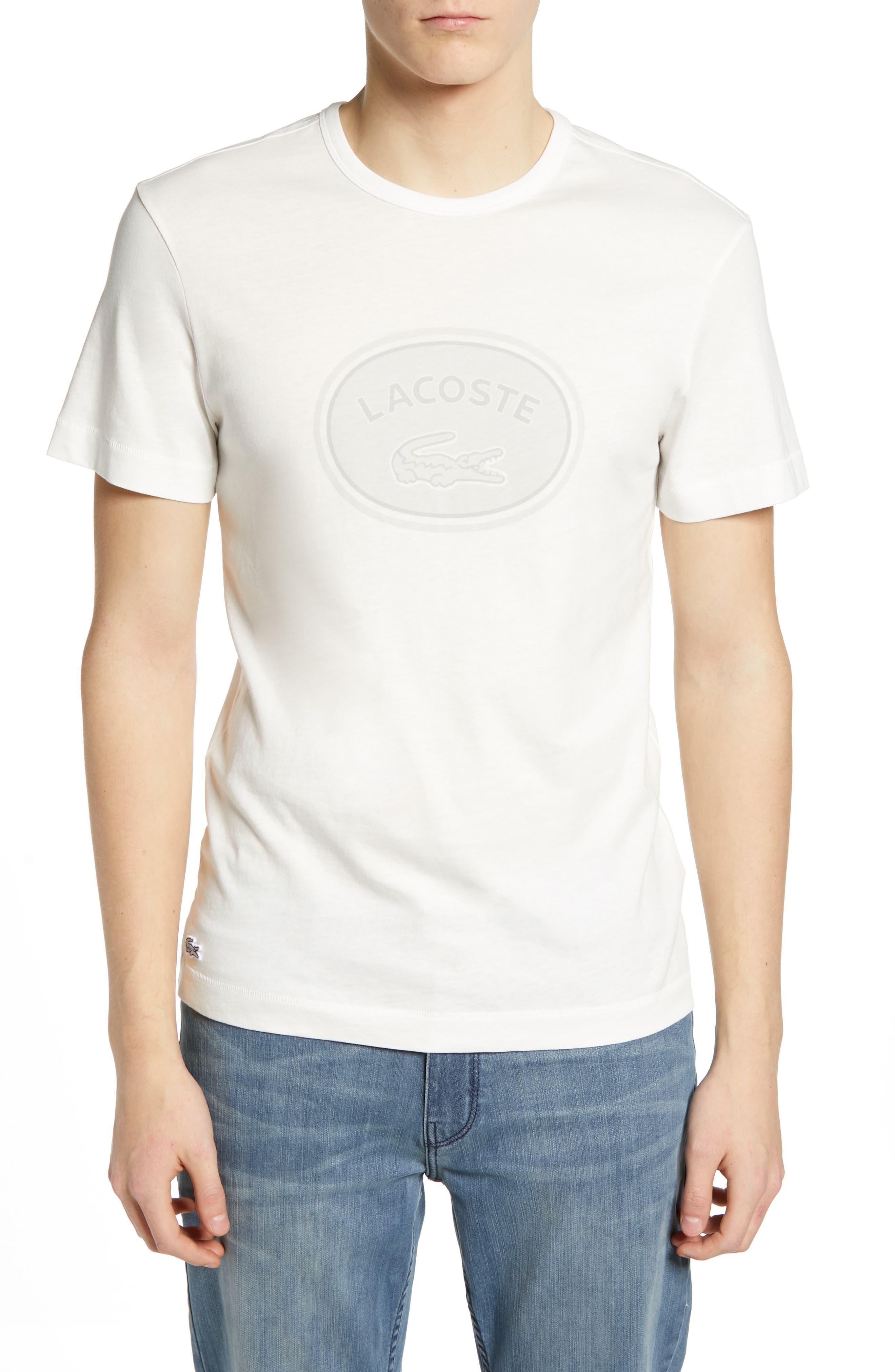 Regular Fit Logo T-Shirt,                             Main thumbnail 1, color,                             FLOUR