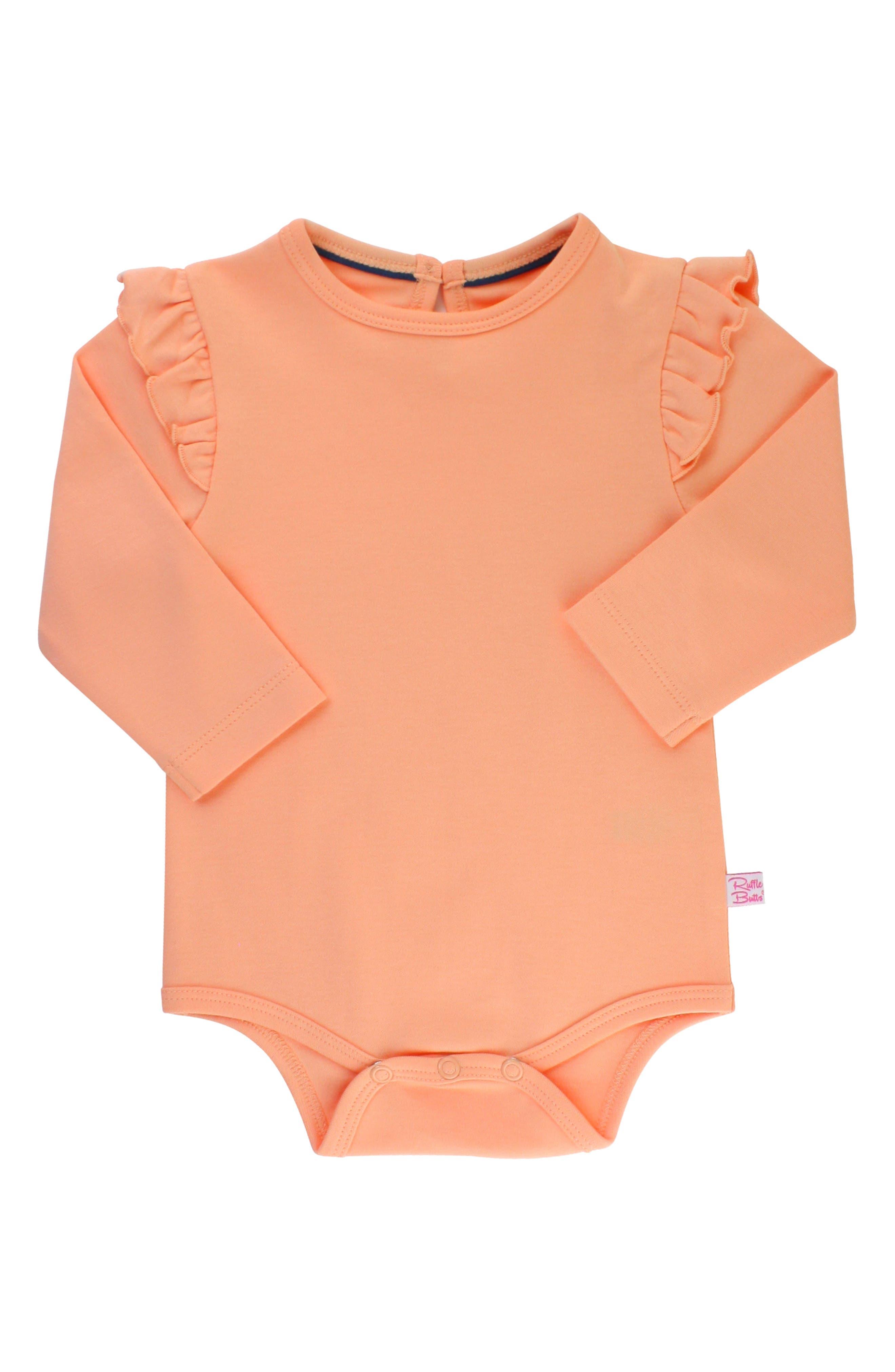 Apricot Bodysuit & Skirted Bloomers Set,                             Alternate thumbnail 3, color,                             DENIM