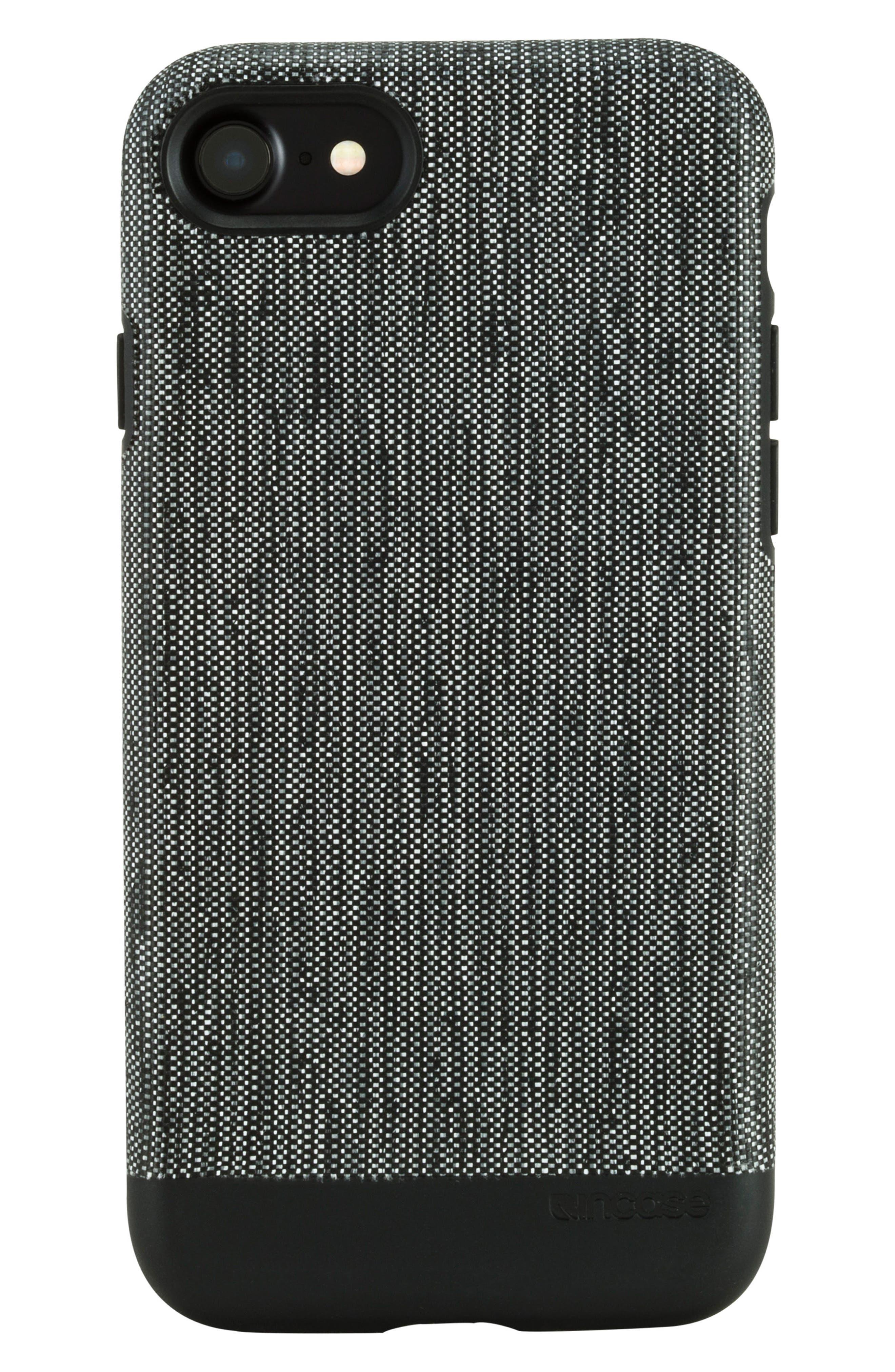 INCASE DESIGNS,                             Textured Snap iPhone 7 & iPhone 8 Case,                             Main thumbnail 1, color,                             001