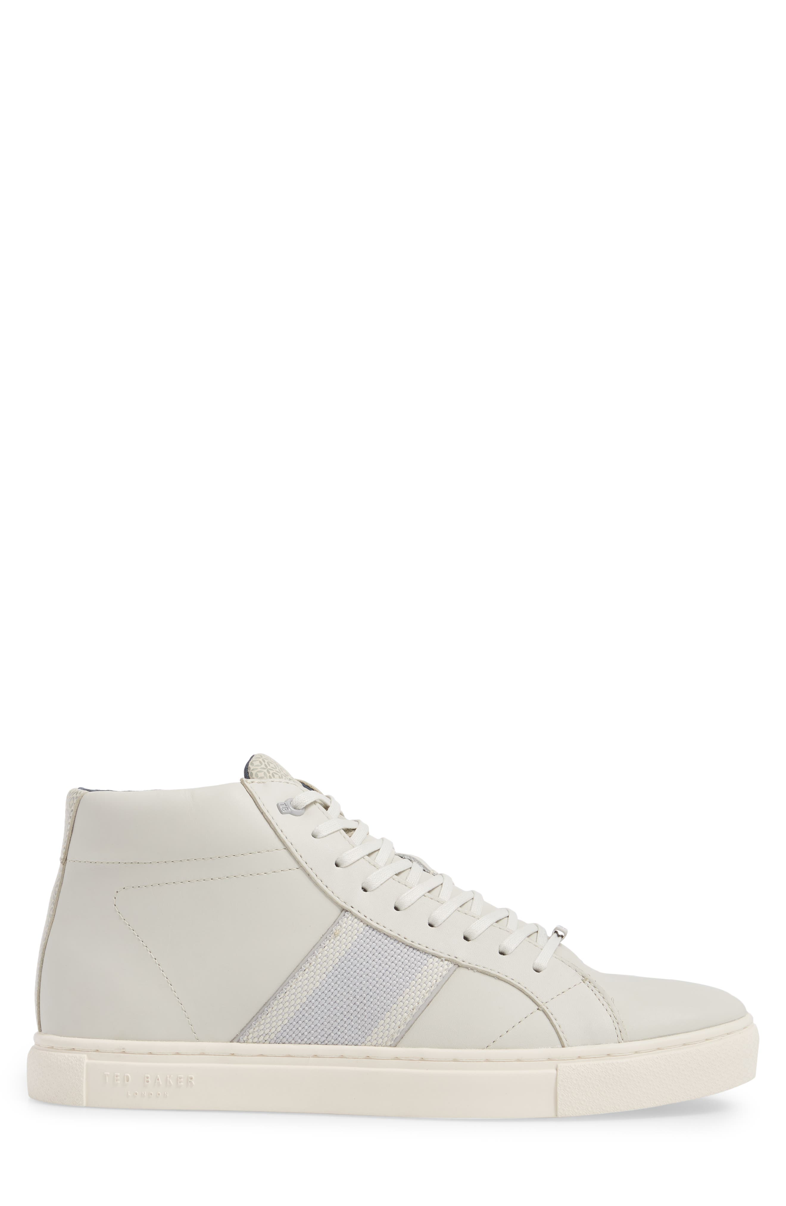 Cruuw High Top Sneaker,                             Alternate thumbnail 3, color,                             WHITE LEATHER