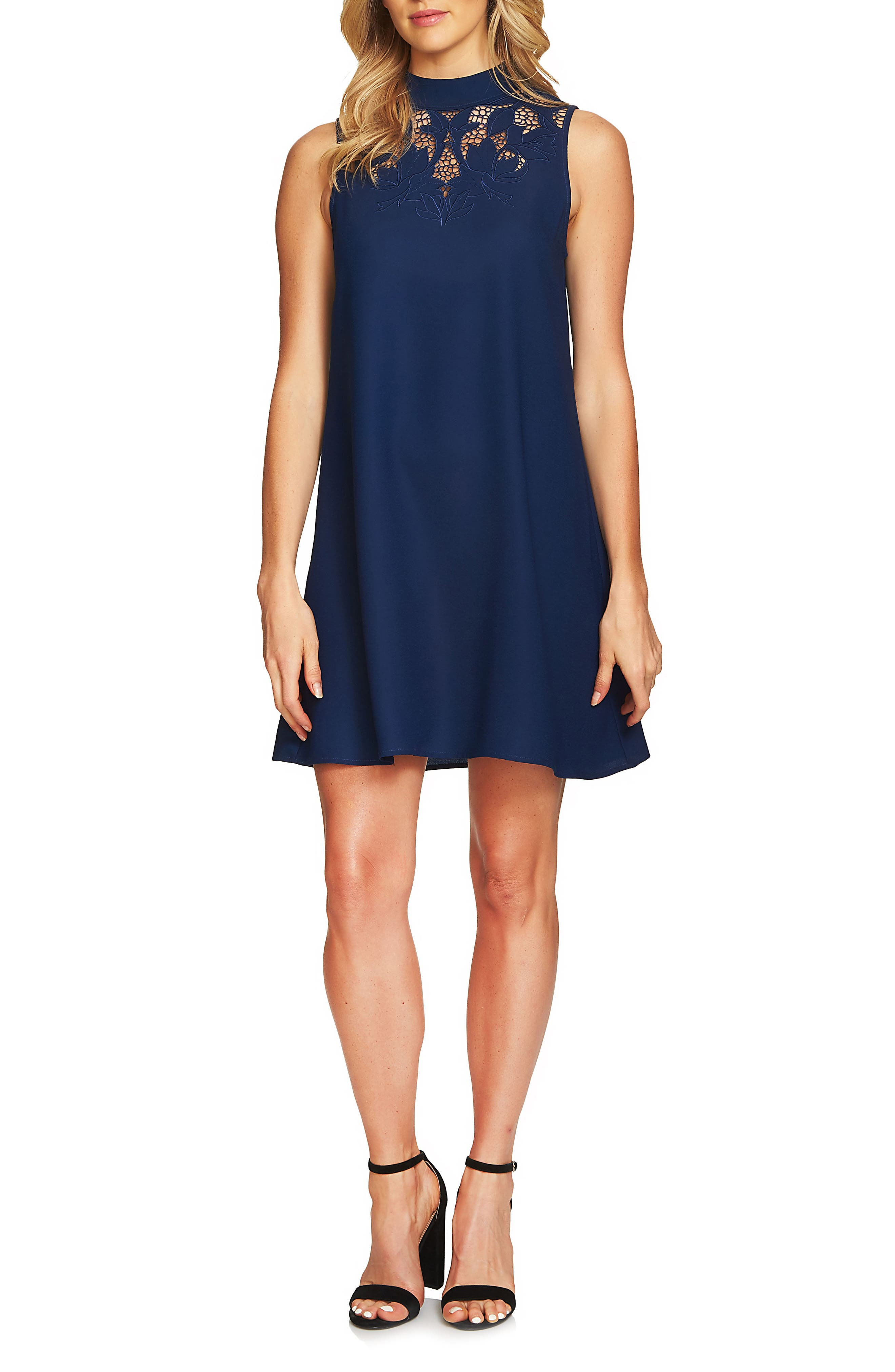 Ava Embroidered Shift Dress,                         Main,                         color, 408