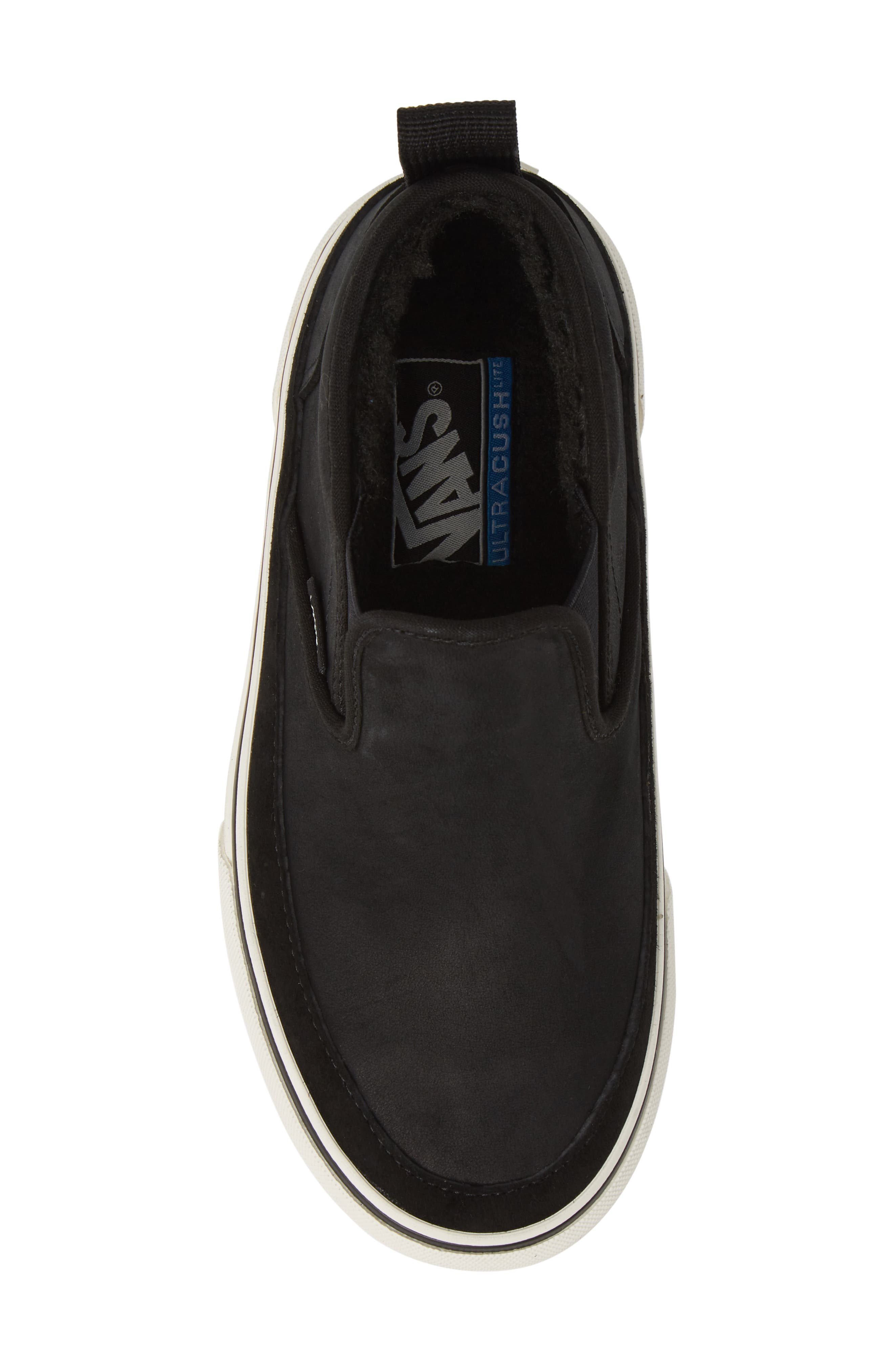UA Authentic MTE Slip-On Sneaker,                             Alternate thumbnail 5, color,                             BLACK/ MARSHMALLOW