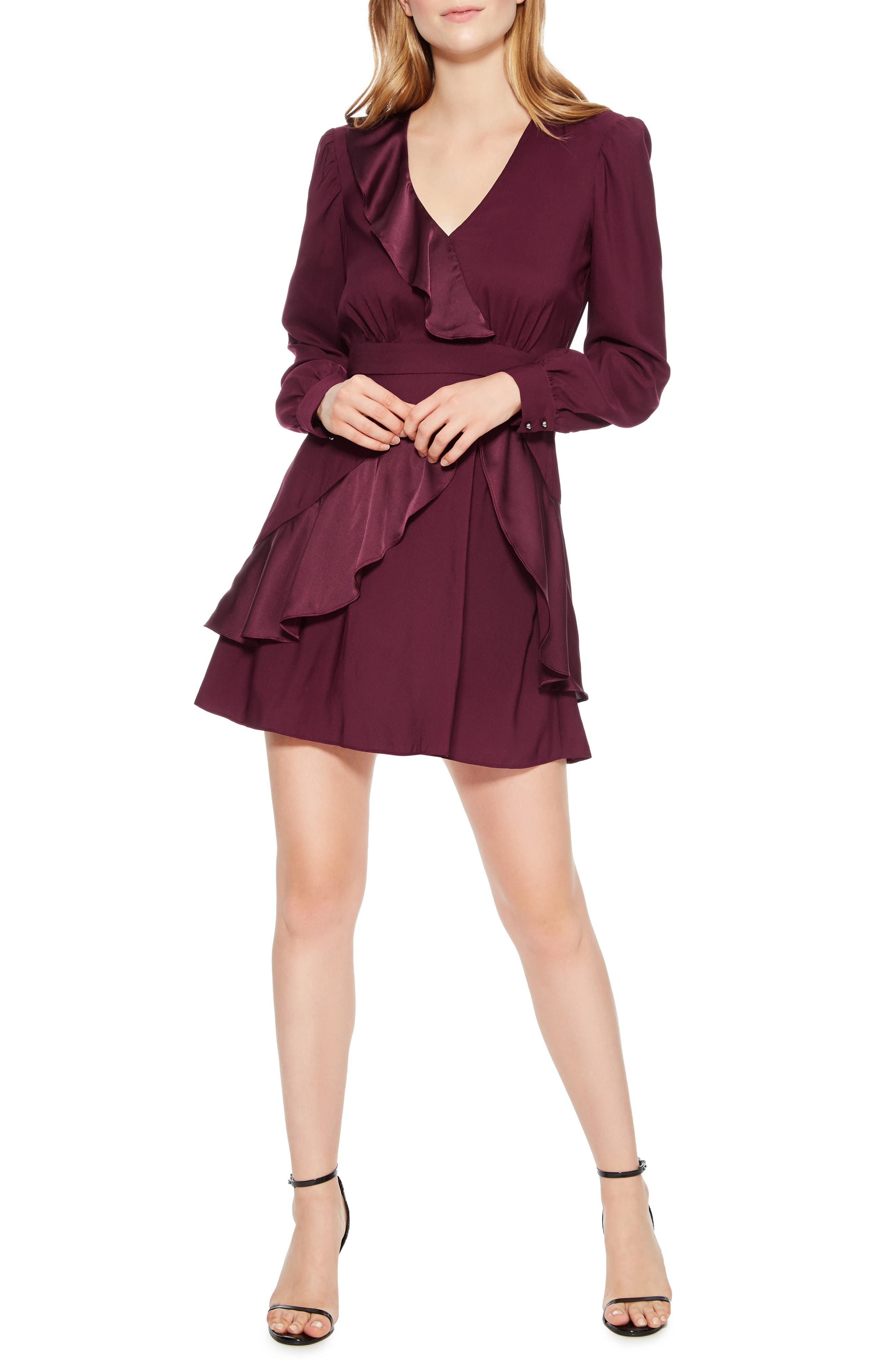 Nancy Ruffle Dress,                             Main thumbnail 1, color,                             930