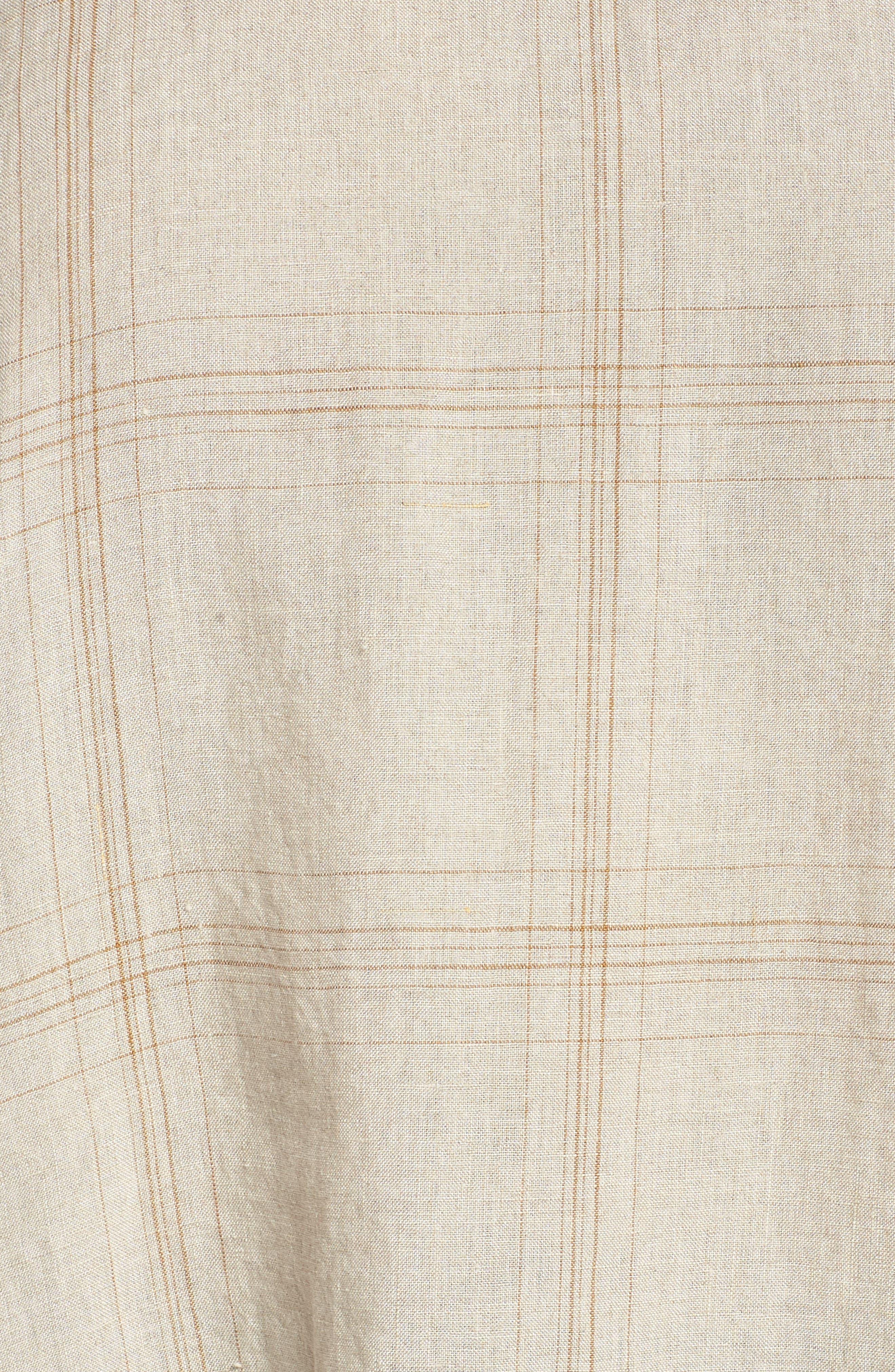 Plaid Organic Linen Tunic,                             Alternate thumbnail 10, color,
