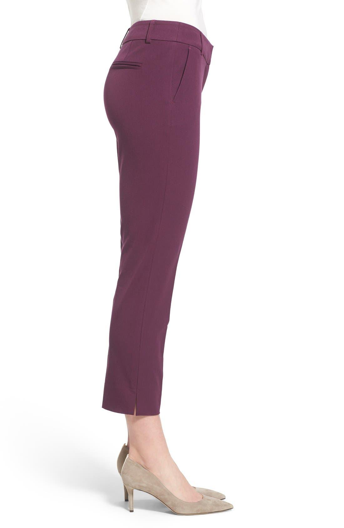 Crop Stretch Cotton Pants,                             Alternate thumbnail 60, color,