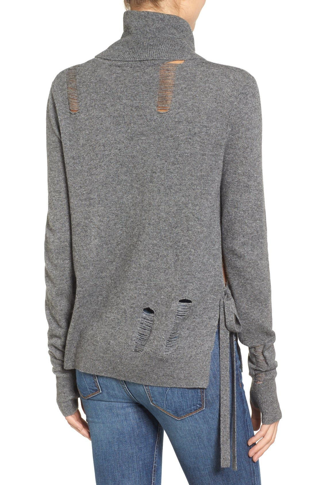 Distressed Turtleneck Sweater,                             Alternate thumbnail 10, color,