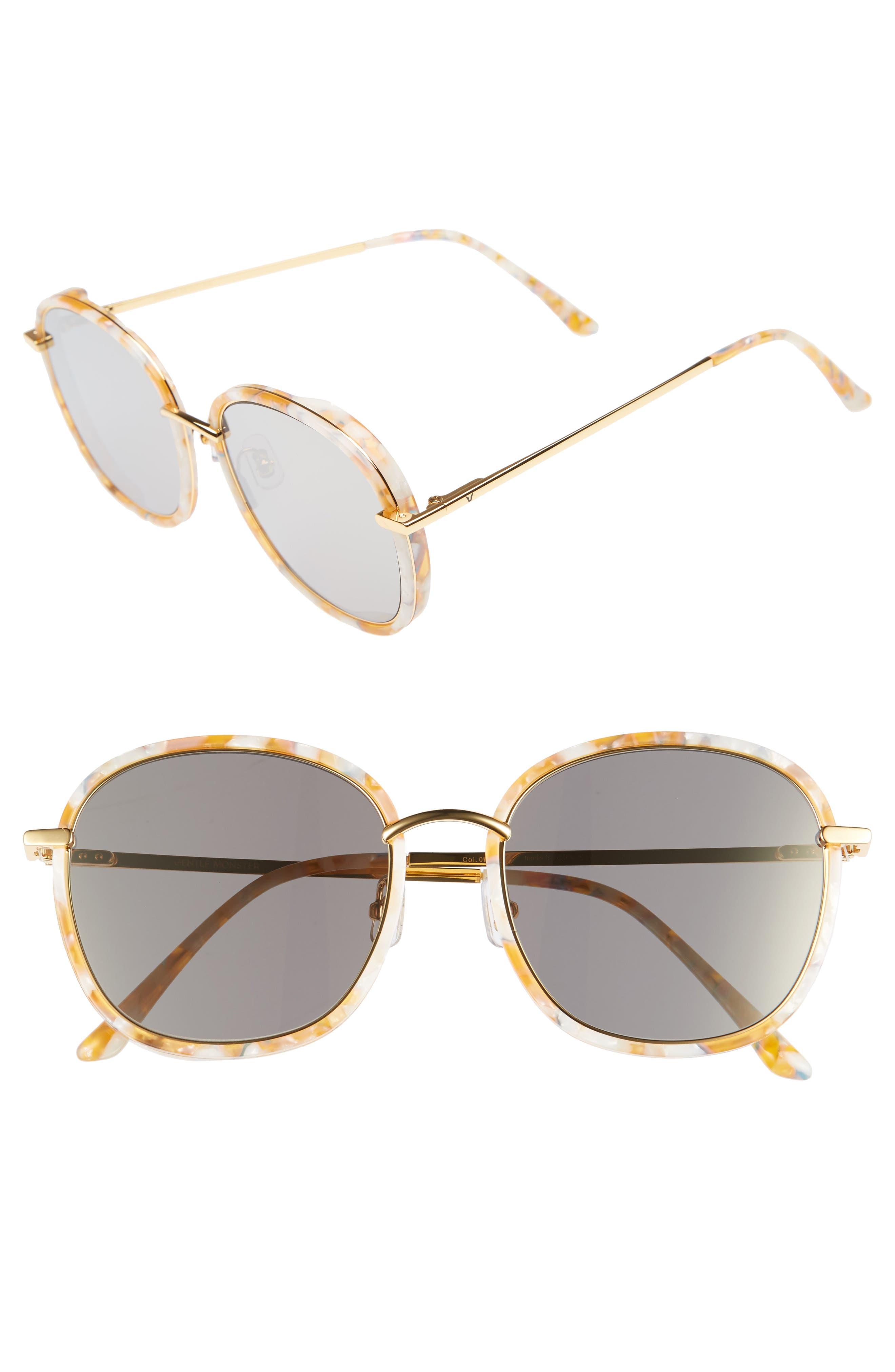 Mad Crush 57mm Round Sunglasses,                             Main thumbnail 1, color,                             800
