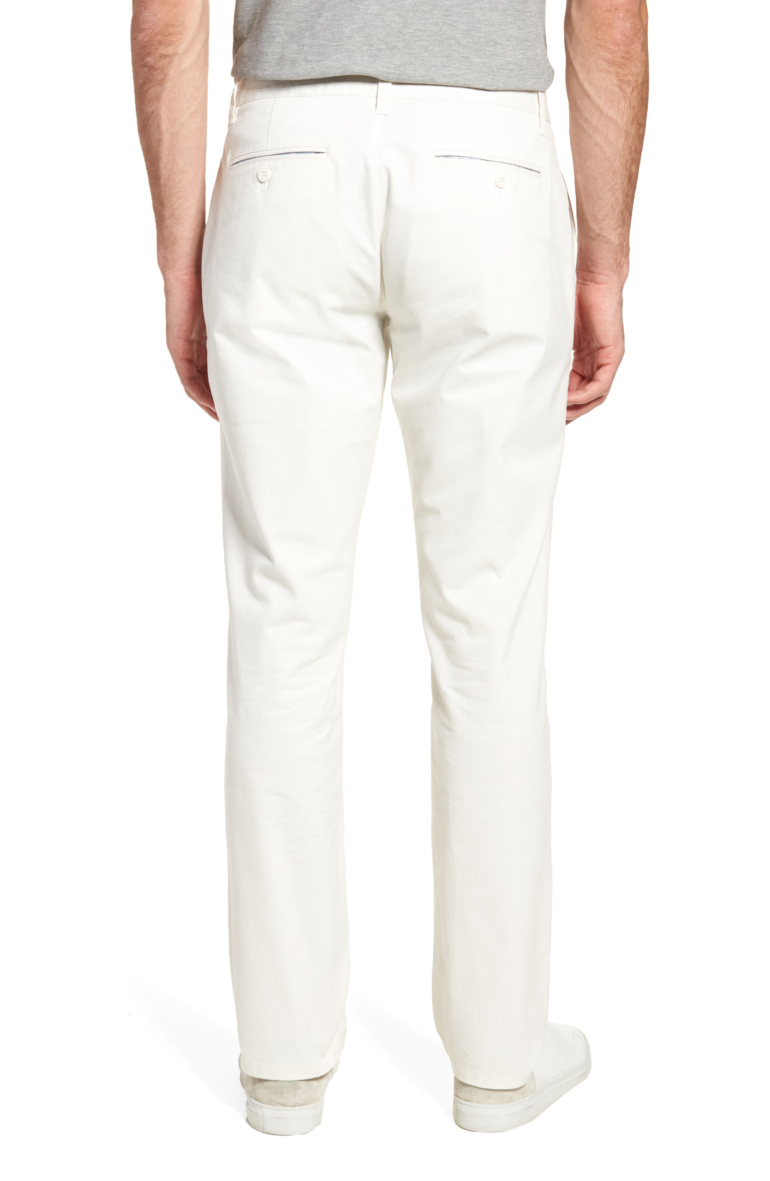 Slim Fit Stretch Washed Chinos,                             Alternate thumbnail 2, color,                             FULL SAIL OFF WHITE