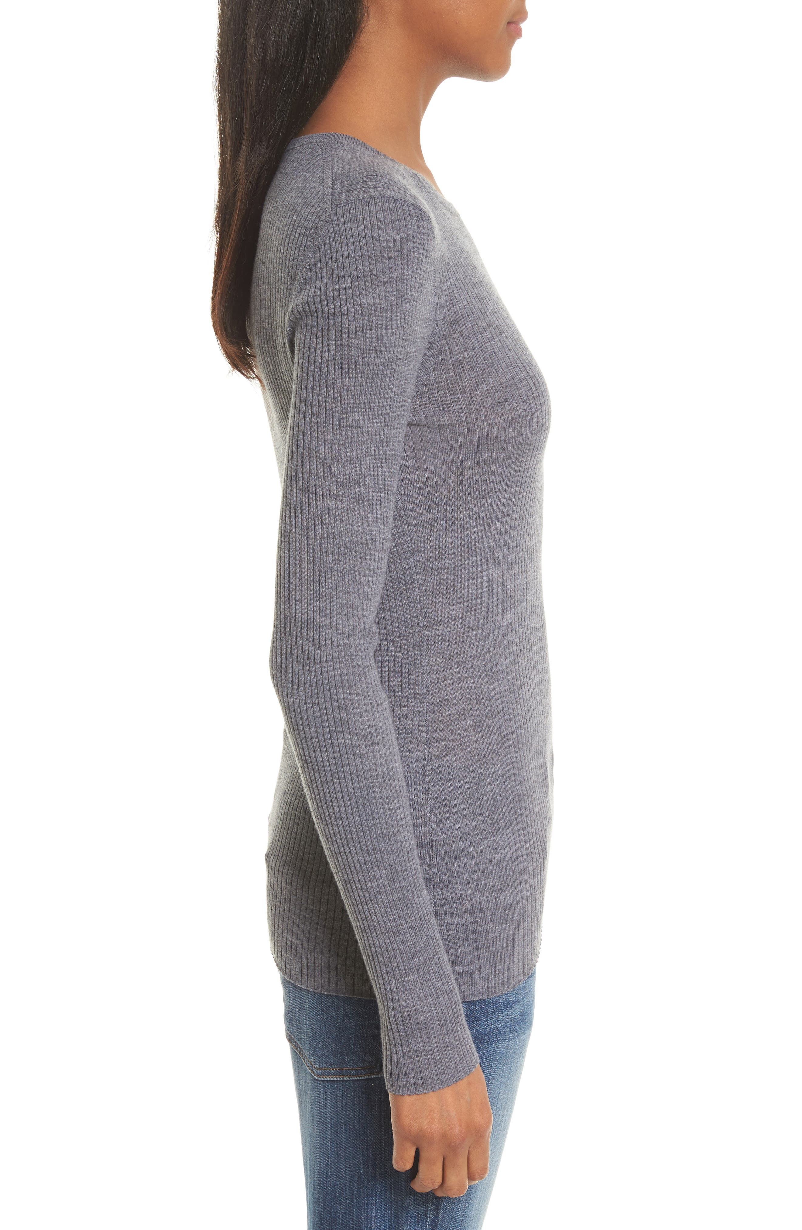 Mirzi B Merino Wool Sweater,                             Alternate thumbnail 3, color,                             059