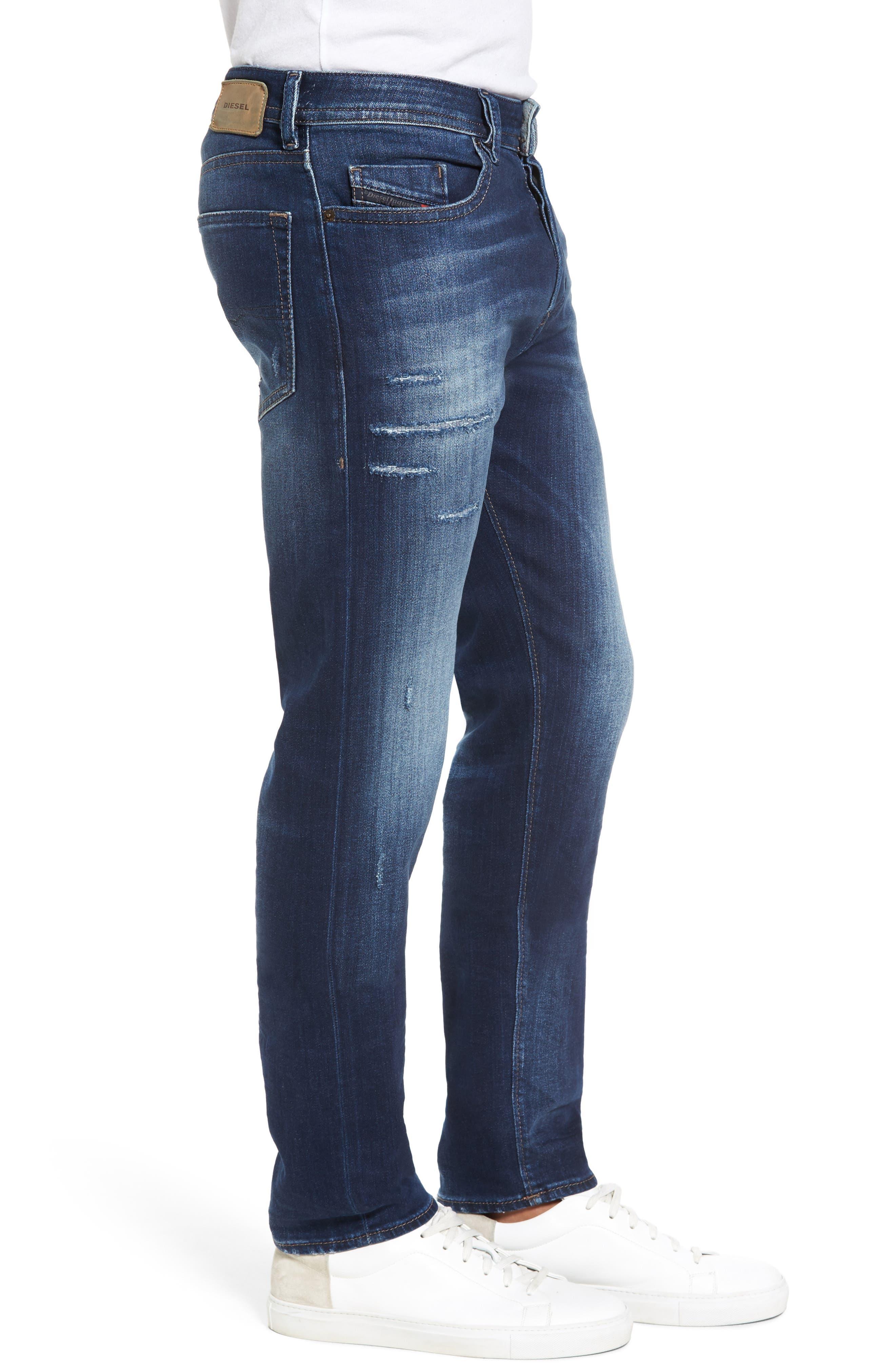 Buster Slim Straight Leg Jeans,                             Alternate thumbnail 3, color,                             900