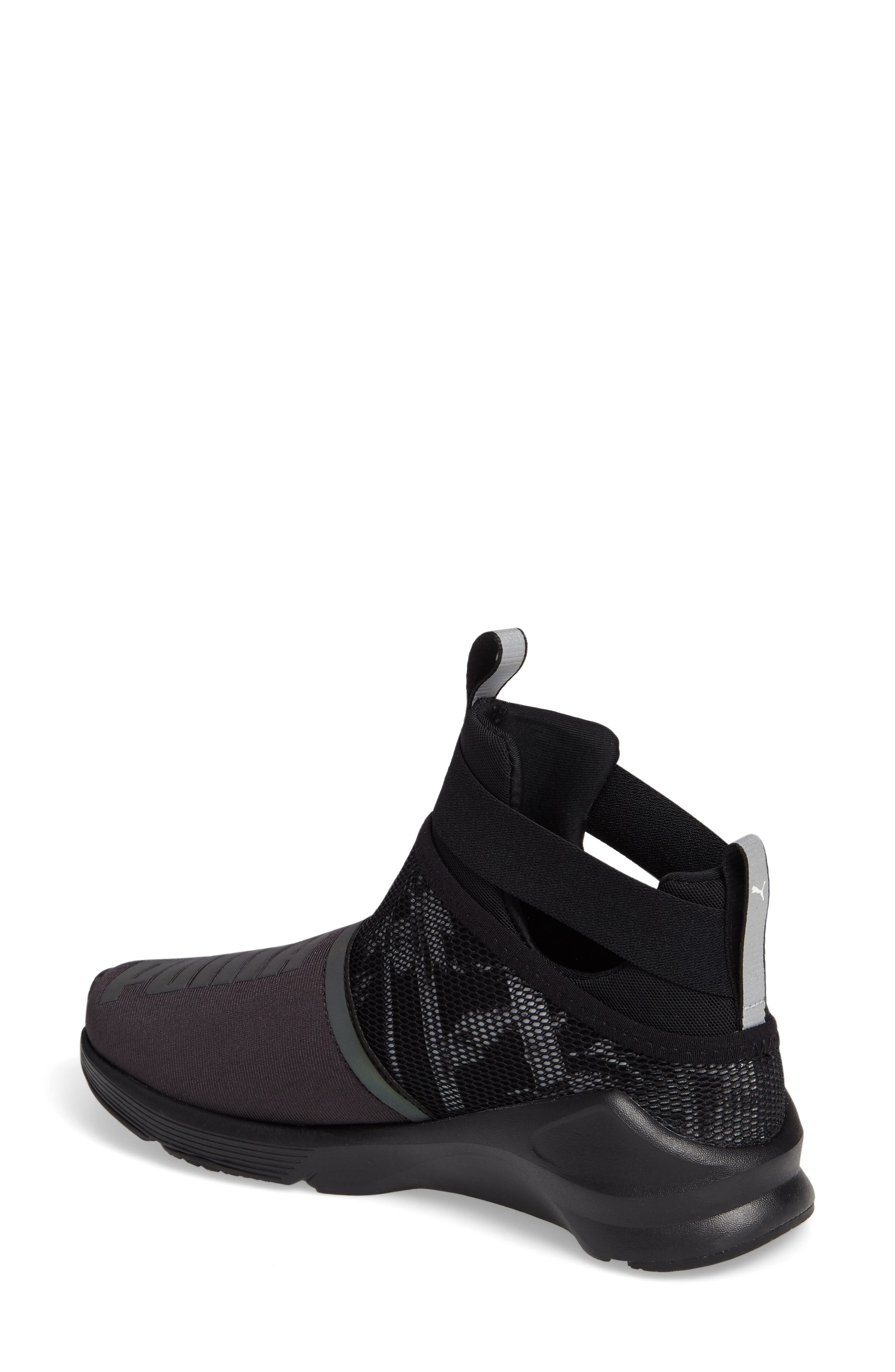 Fierce Strap Swan Training Sneaker,                             Alternate thumbnail 2, color,                             001