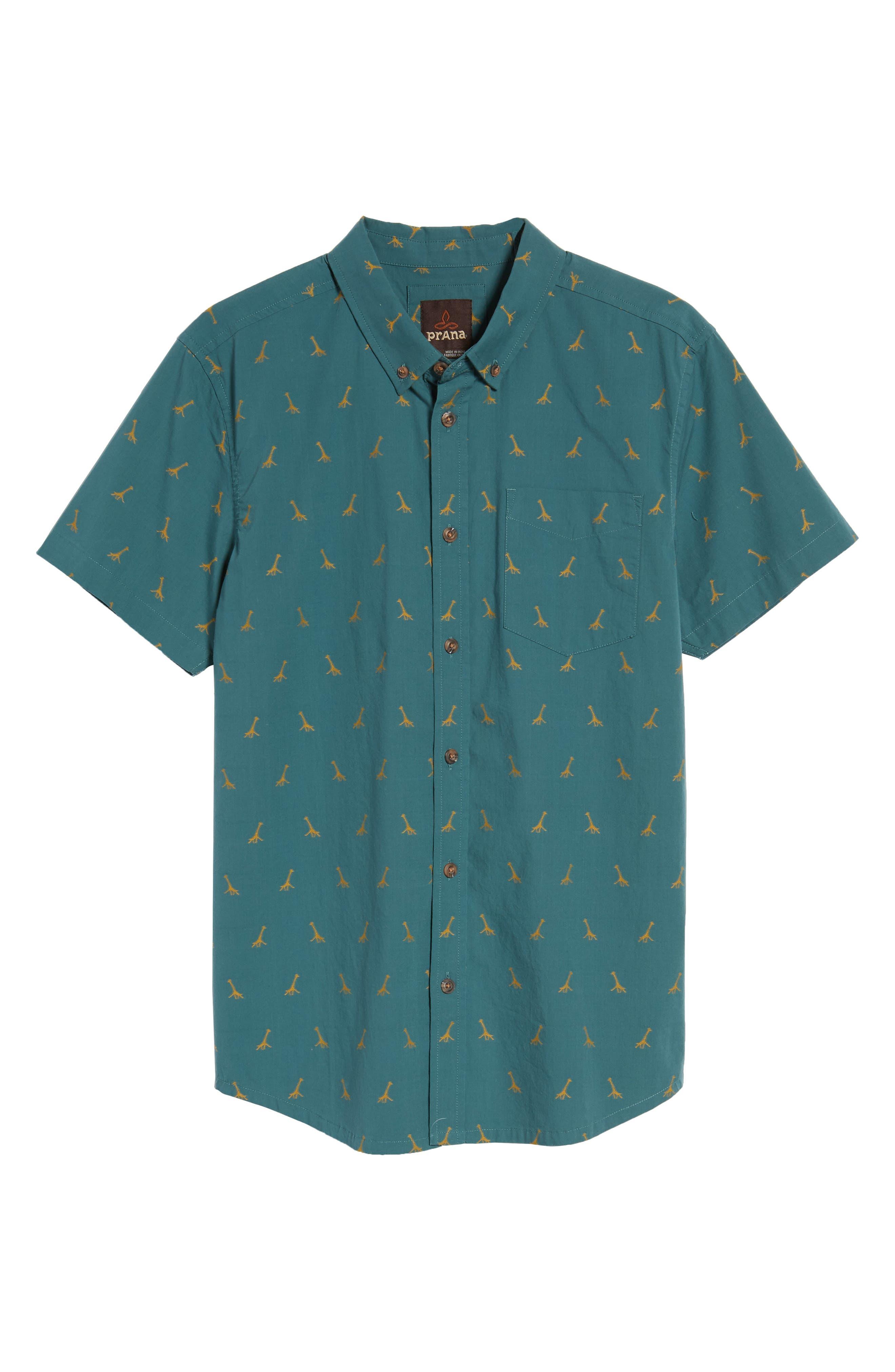 Broderick Slim Fit Short Sleeve Sport Shirt,                             Alternate thumbnail 6, color,                             300