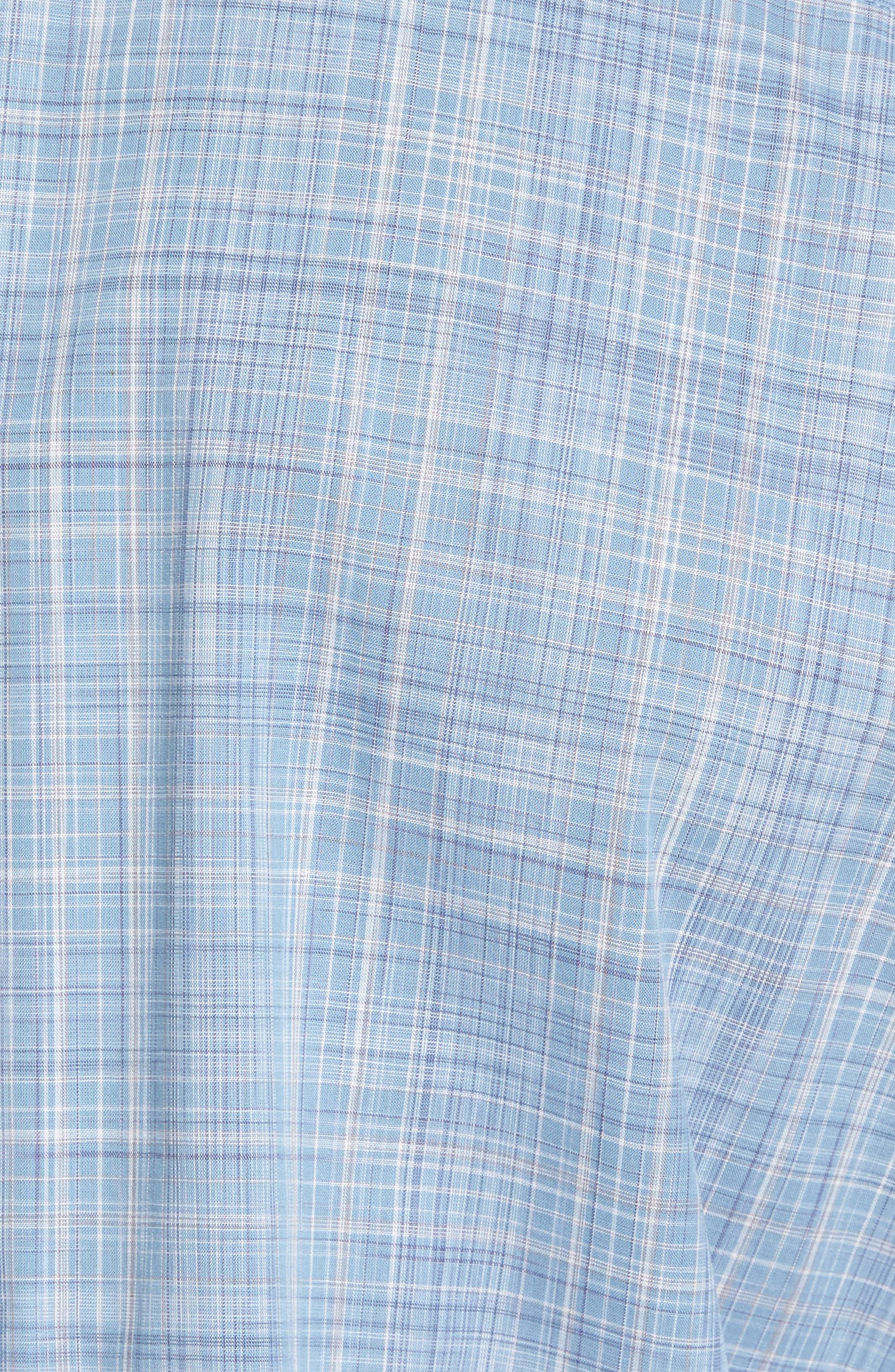 Clark Slim Fit Plaid Sport Shirt,                             Alternate thumbnail 5, color,                             450