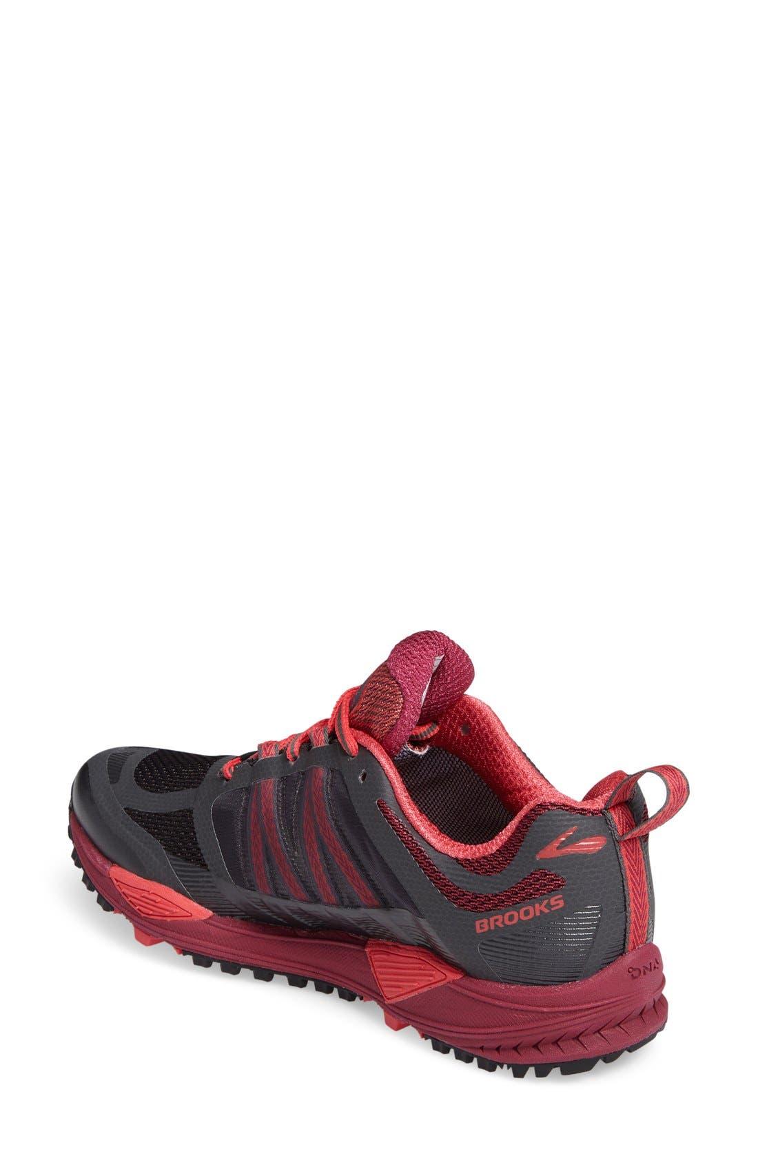 BROOKS,                             Cascadia 11 GTX Trail Running Shoe,                             Alternate thumbnail 4, color,                             020