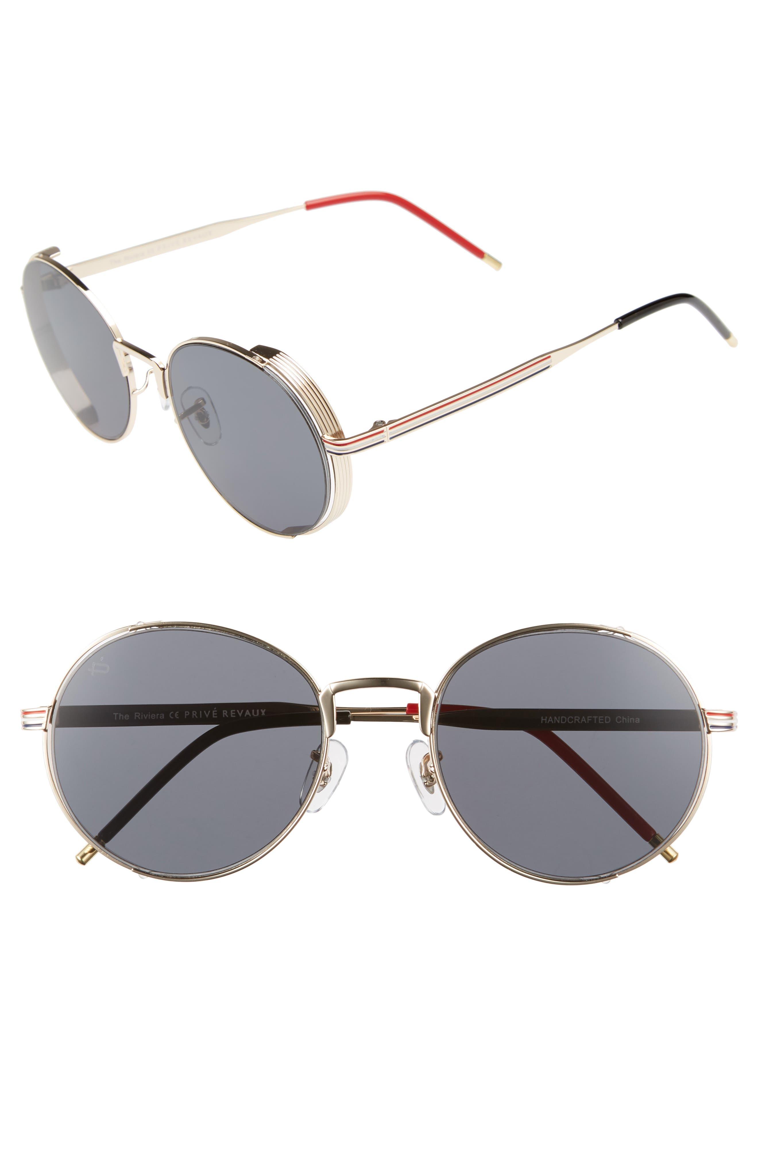 Privé Revaux The Riviera Round Sunglasses,                             Main thumbnail 1, color,                             020