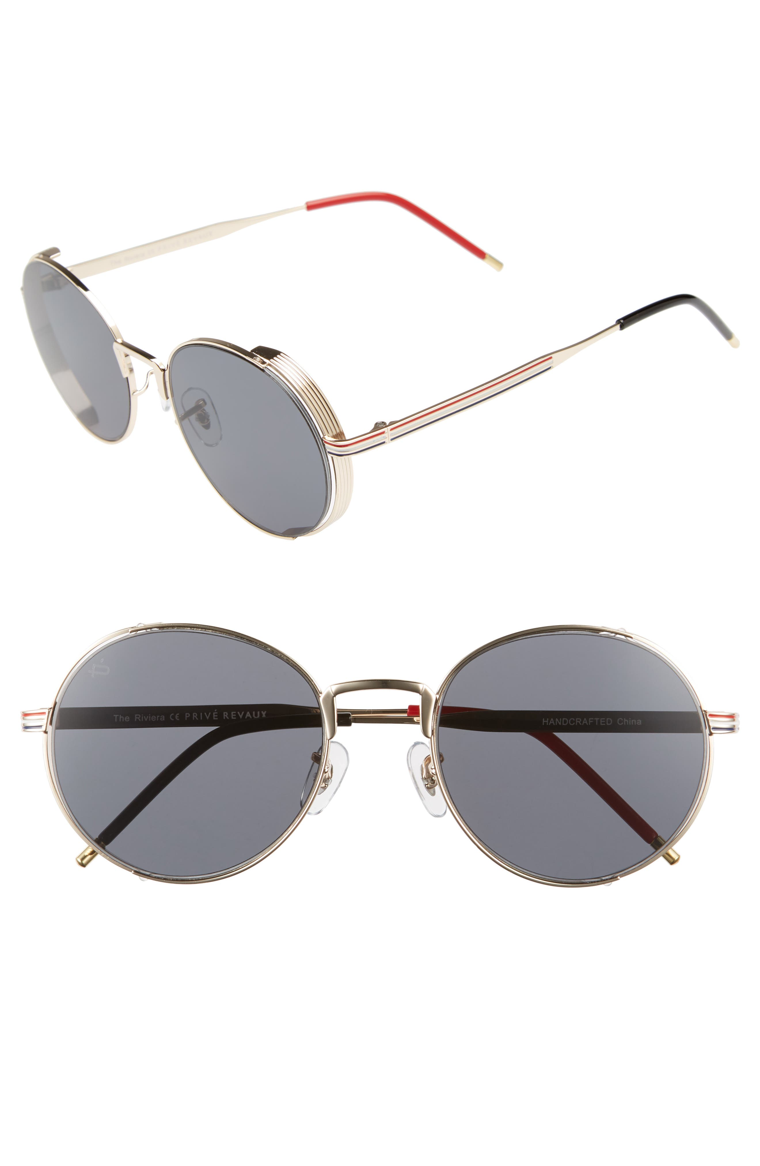 Privé Revaux The Riviera Round Sunglasses,                         Main,                         color, 020
