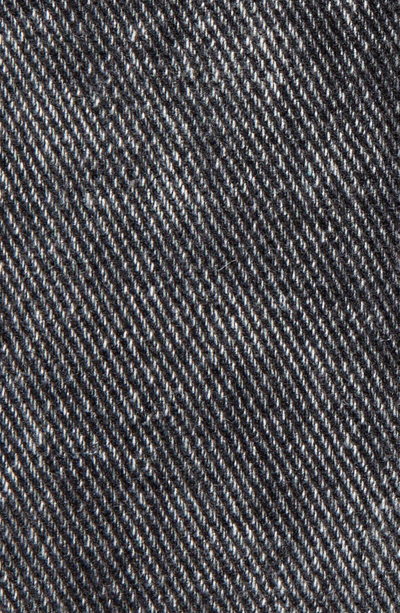 Classic Fit Denim Jacket,                             Alternate thumbnail 7, color,                             BLACK ACID WASH