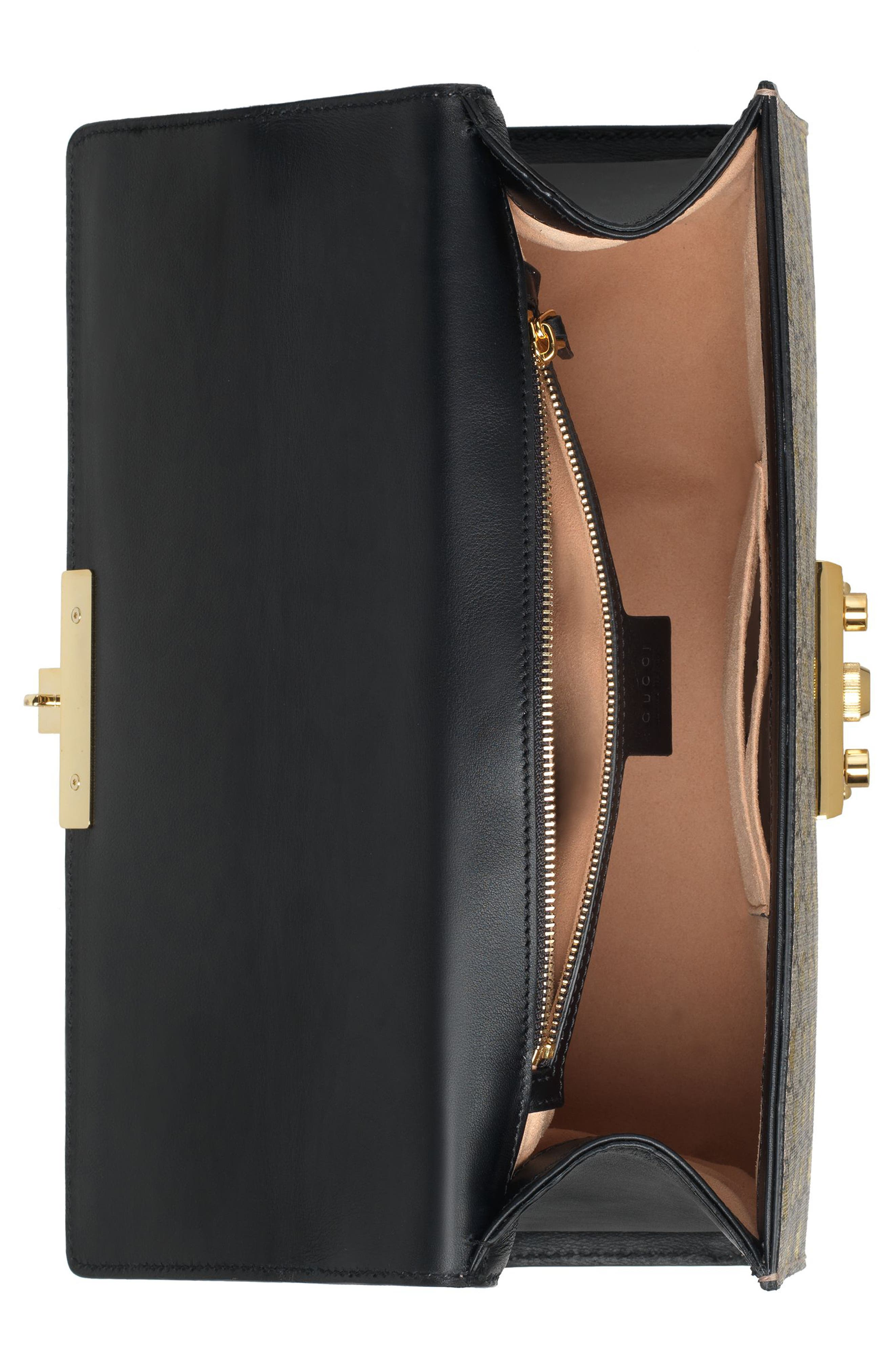 Medium Padlock GG Supreme Bee Shoulder Bag,                             Alternate thumbnail 3, color,                             250